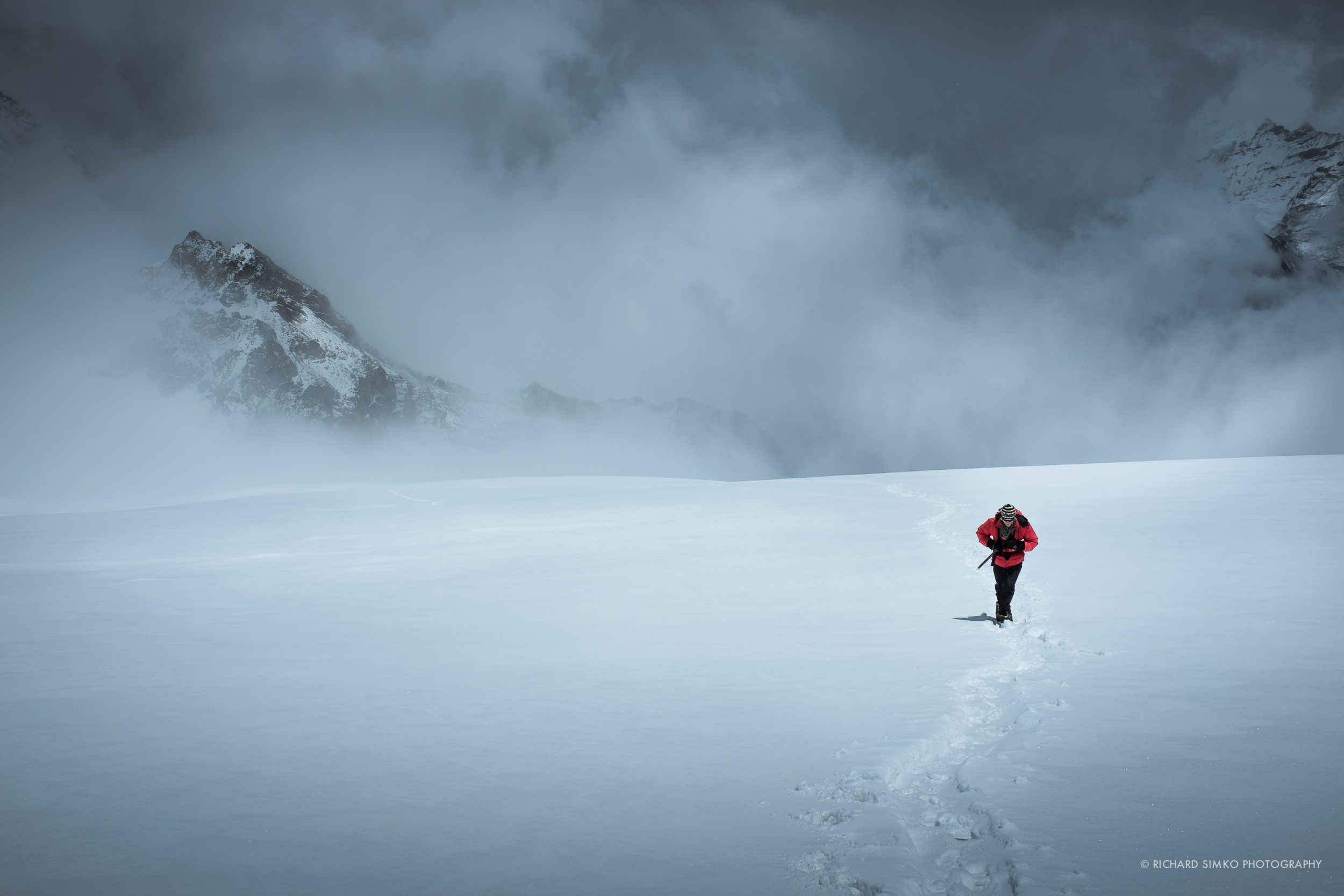 I am on the way to high camp. This photograph was taken by Ngawang Sherpa.