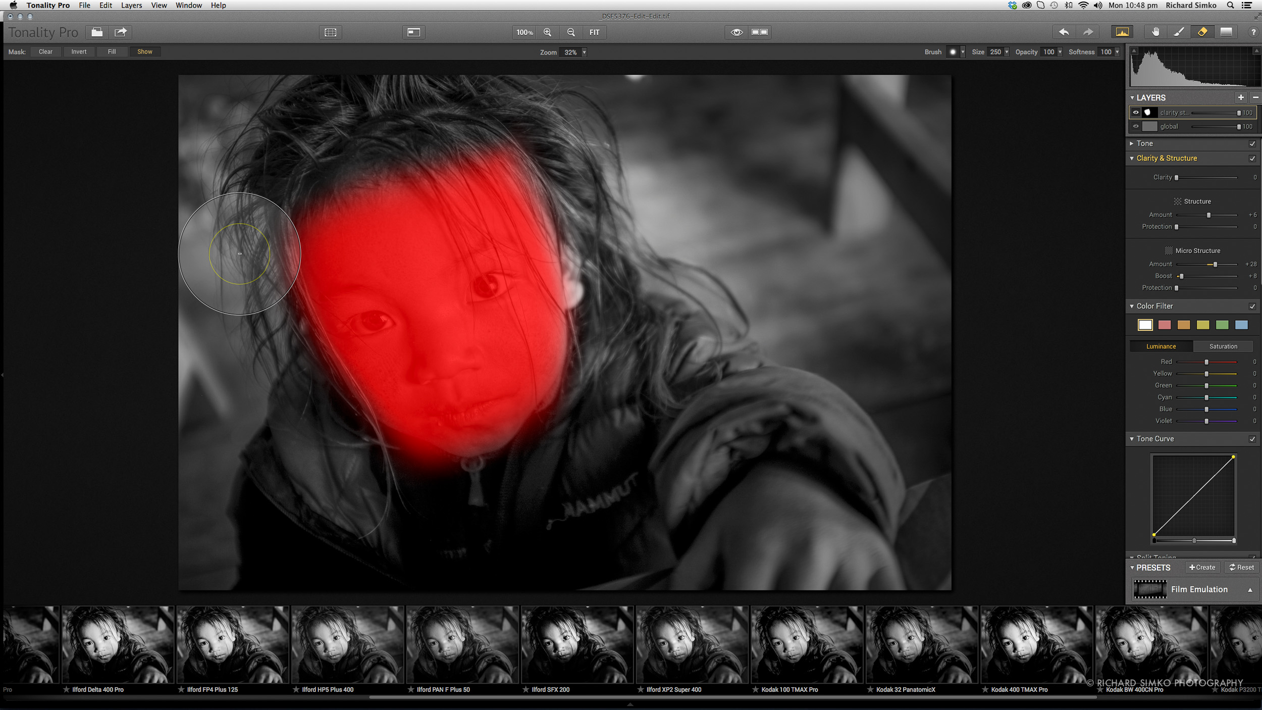 Viewing layer mask.