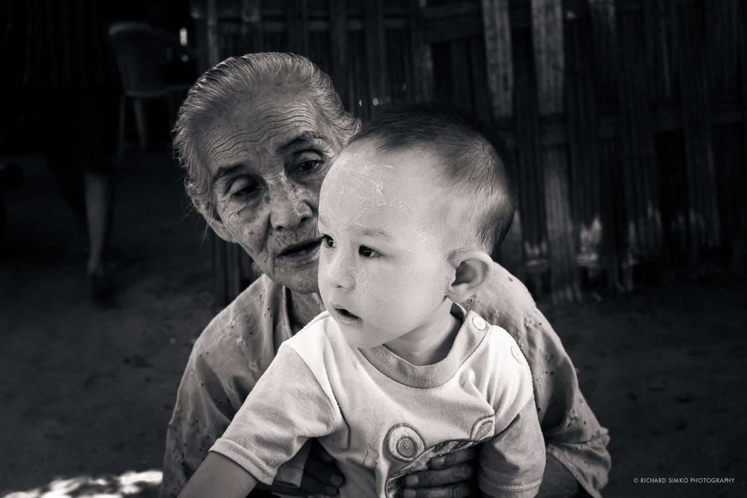 Grandmother with a child