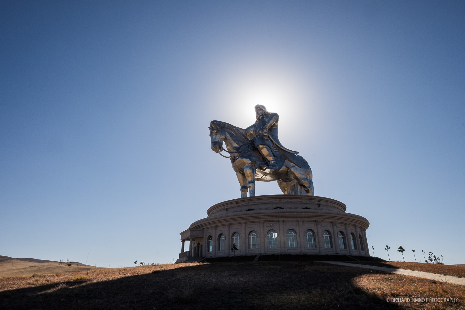 Chinggis Khaan Statue Complex about an hour drive from Ulaanbaatar. it is 40m high statue pointed towards direction of his birthplace.