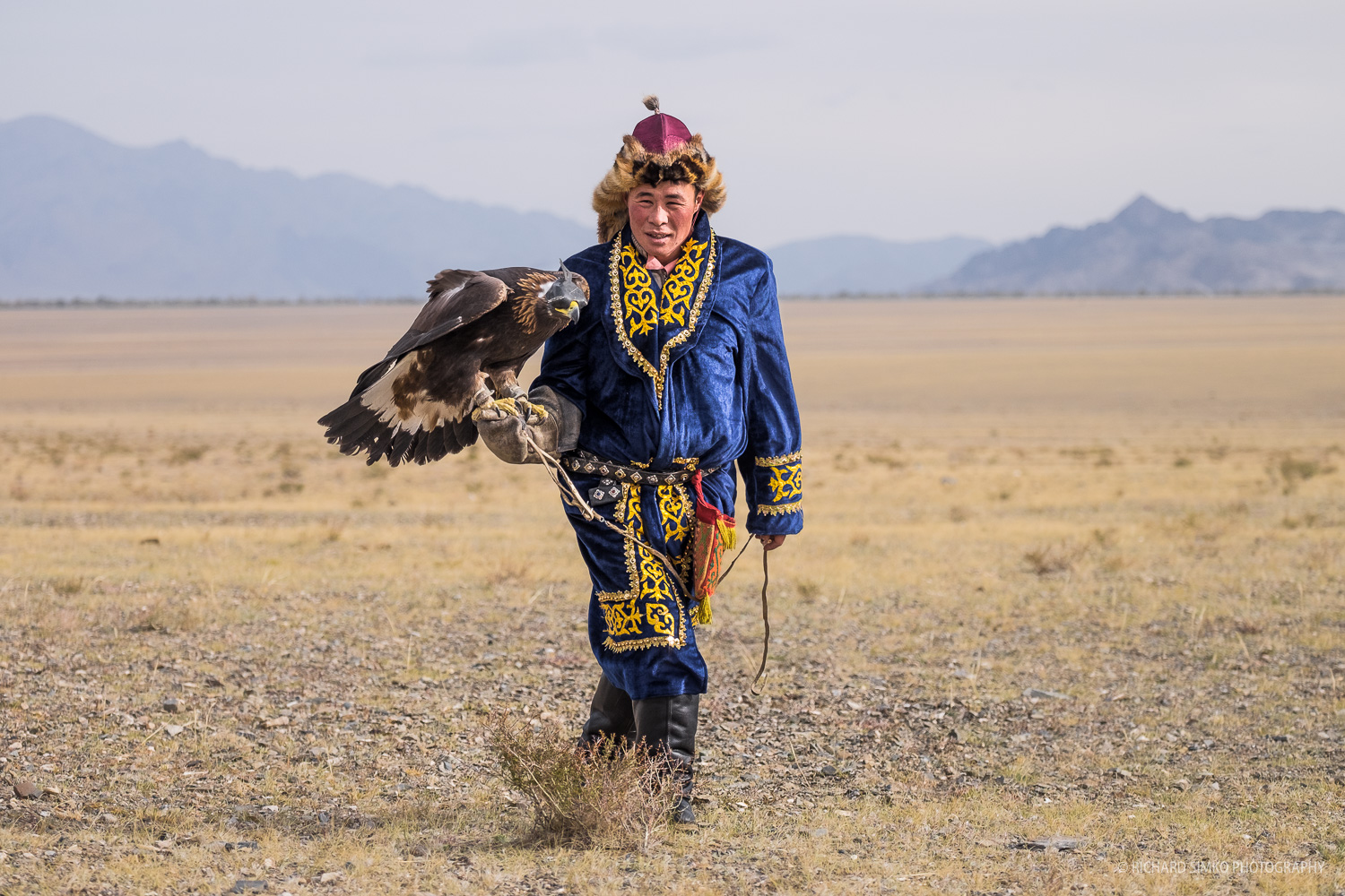 Eagle hunter in one of the more colourful outfits