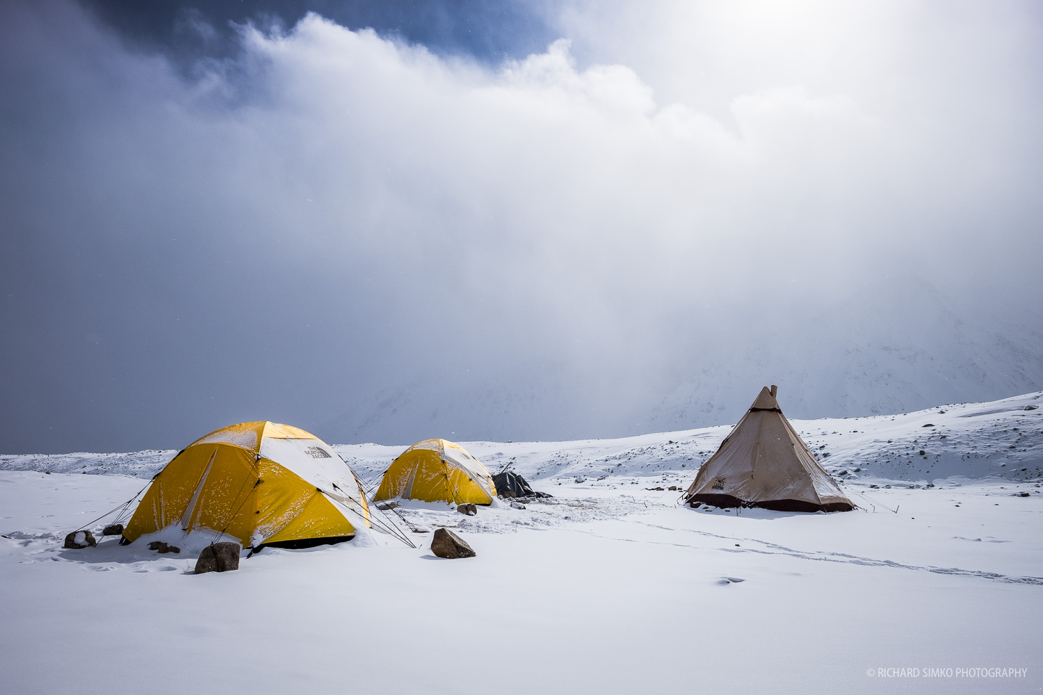 Khuiten base camp