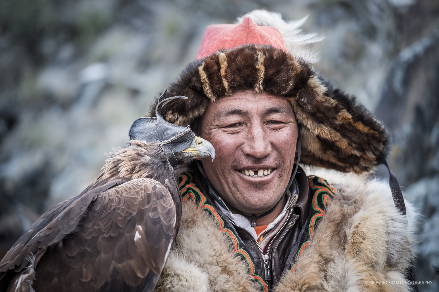 Eagle hunter portrait