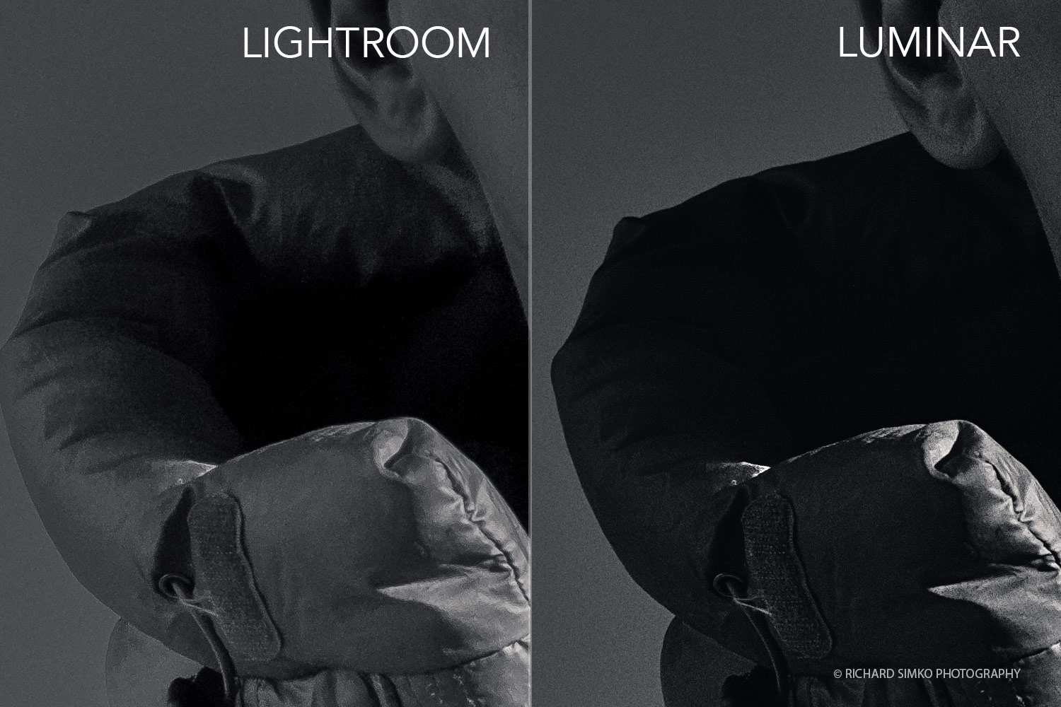Lightroom vs Luminar - I was not able to bring back the shadow detail.