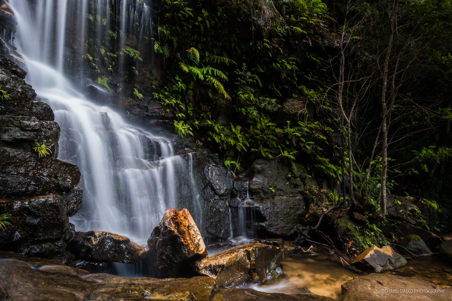 One of the cascades at Wentworth Falls.