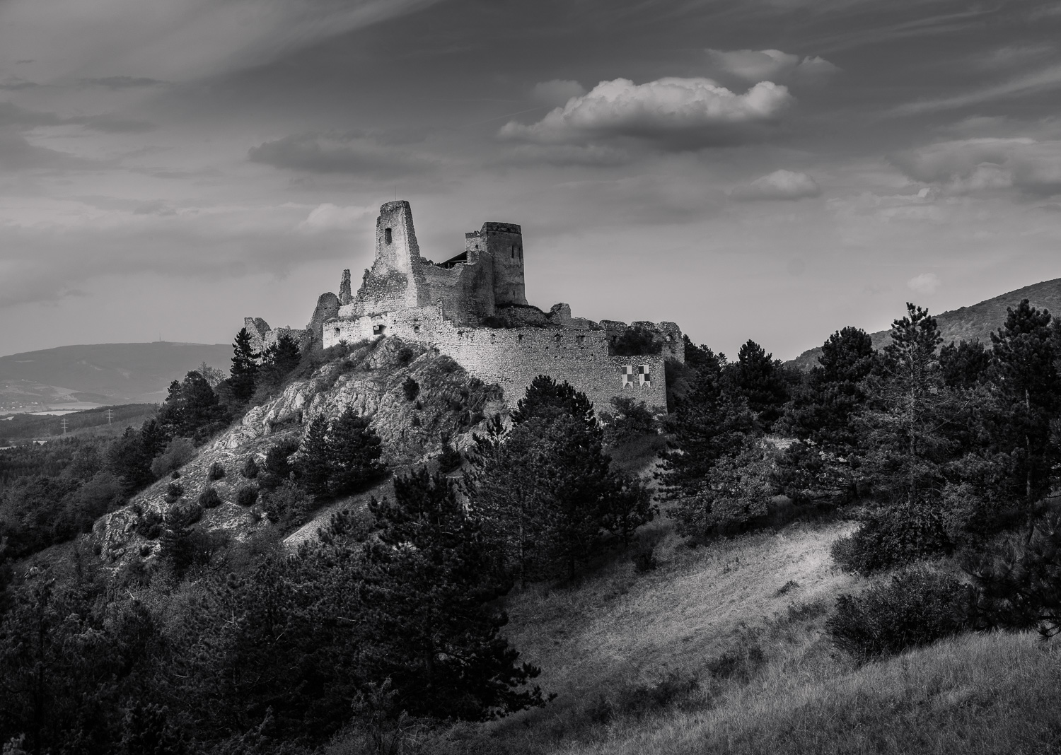 Čachtice Castle ruins. The home of countess Elisabeth Bathory.