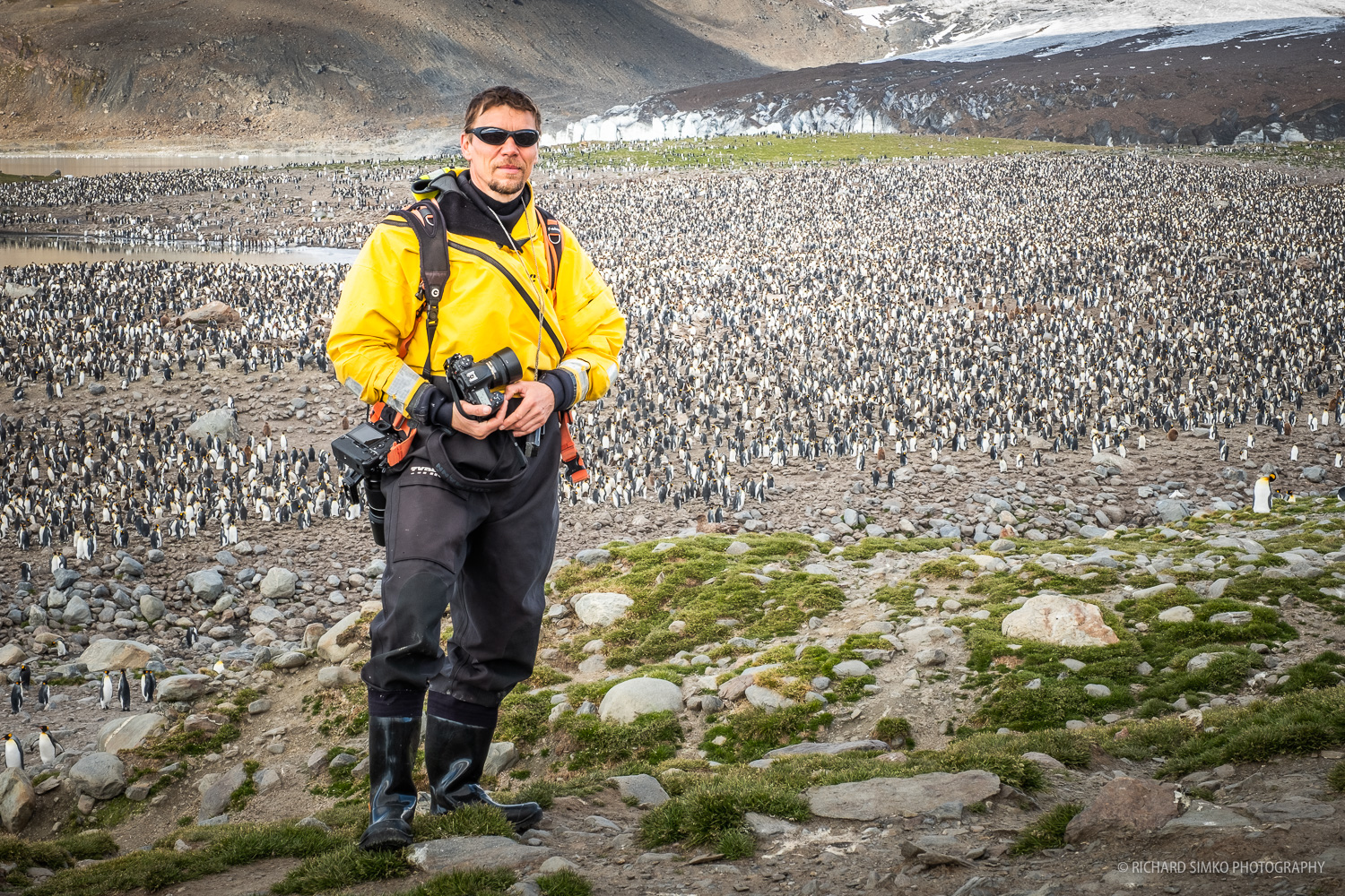 My hero photo at St Andrews in South Georgia. This is the location where we could see the largest king penguin colony in the island and perhaps the whole world.