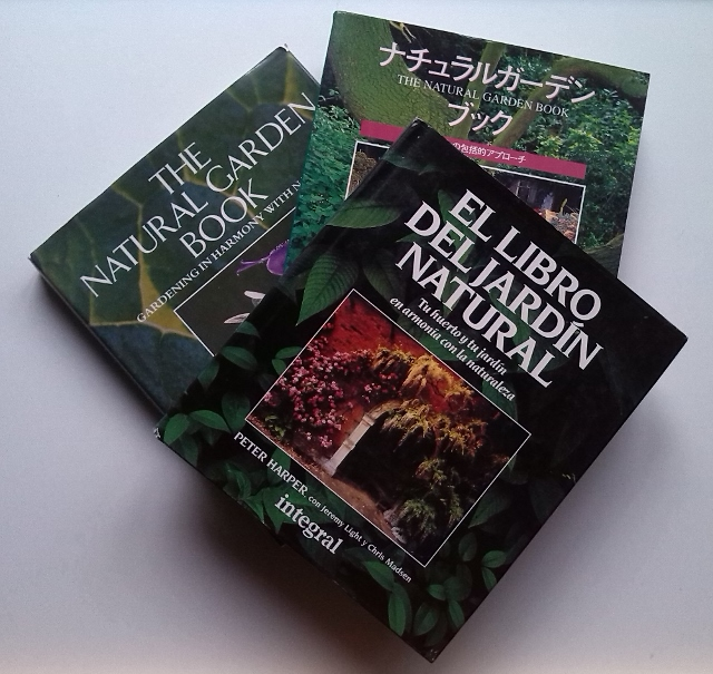 British, Japanese and Spanish editions of  The Natural Garden Book
