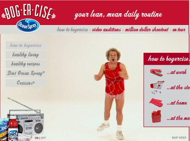 This was surreal. Two days with Richard Simmons creating videos for tips to live healthier lives, including using Diet Ocean Spray products.