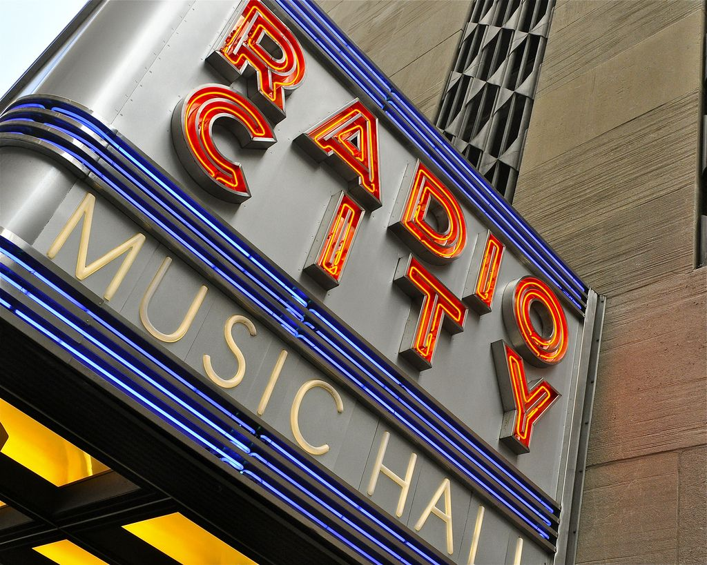 Radio City Music Hall Marquee, NYC.