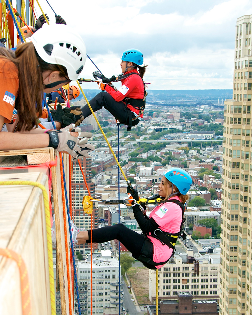 Over The Edge, American Cancer Society, Jersey City, NJ.
