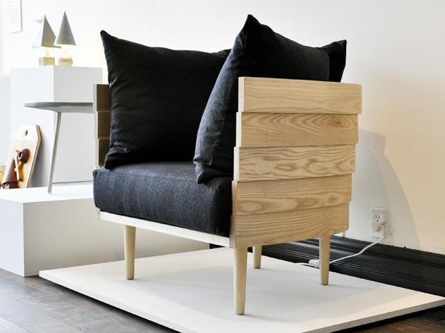 Bent wood lounge chair from Derek Mcleod