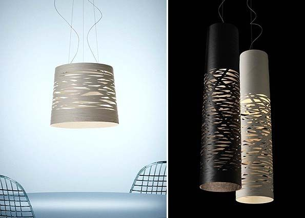 These Pendants by Foscarini are stunning, creating subtle light patterns on walls and a soft down light perfect for dining or bedside.