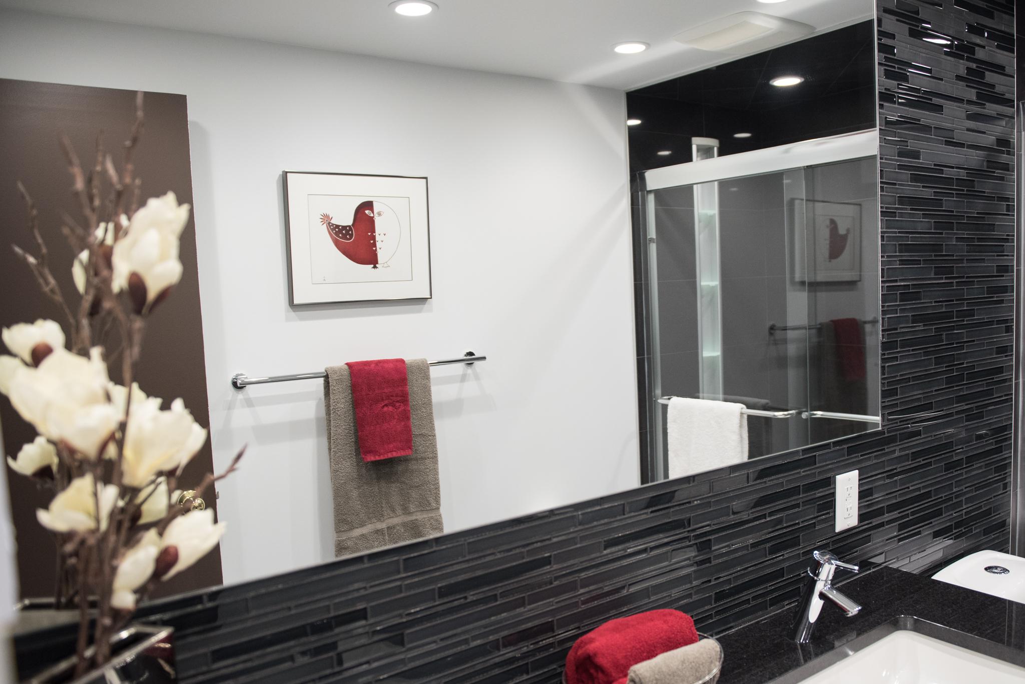 Drama In Black And White For 60s Bathroom Reno Susan Rea Interior Design