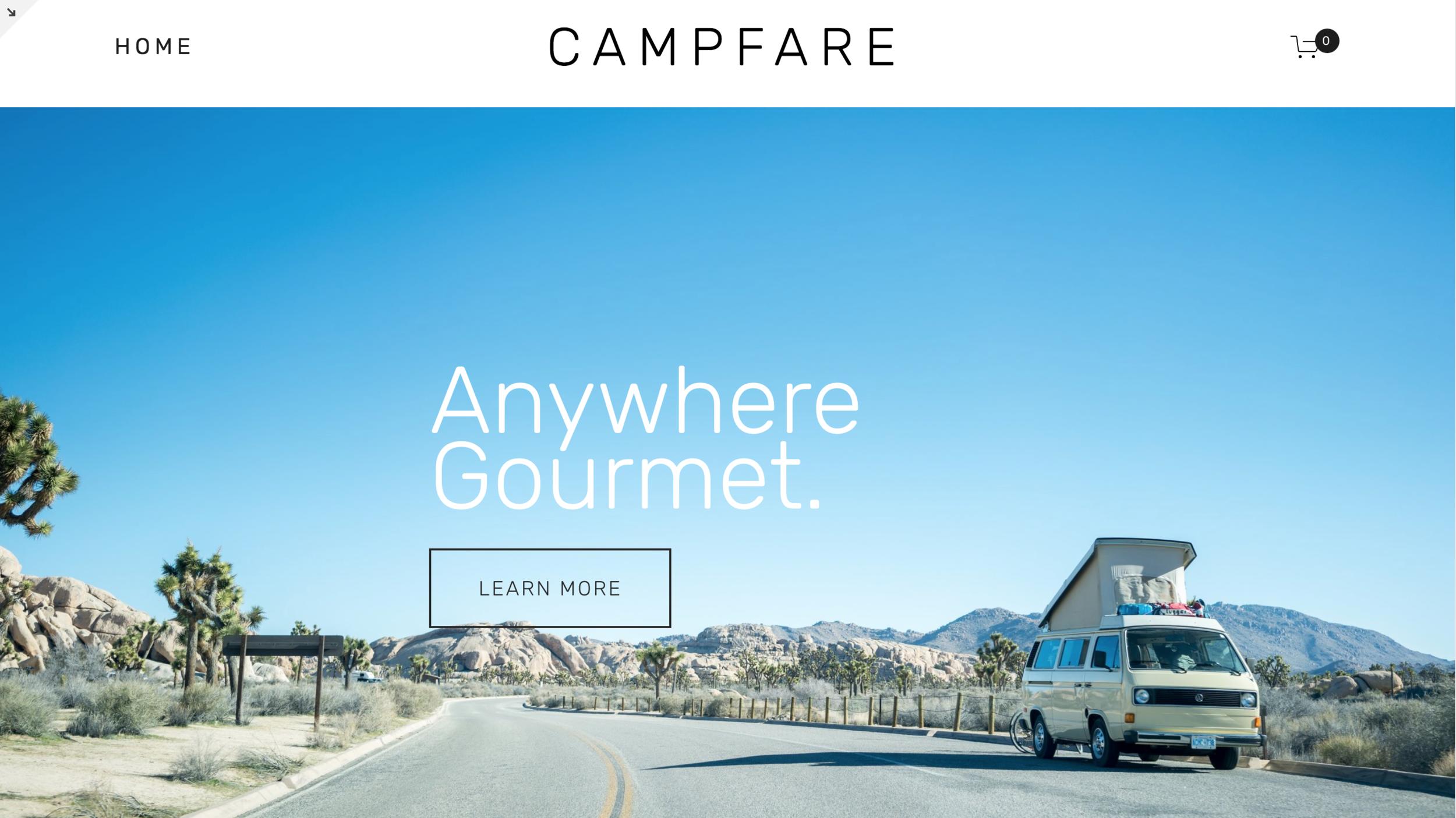 CampFare Demo HomePage.png