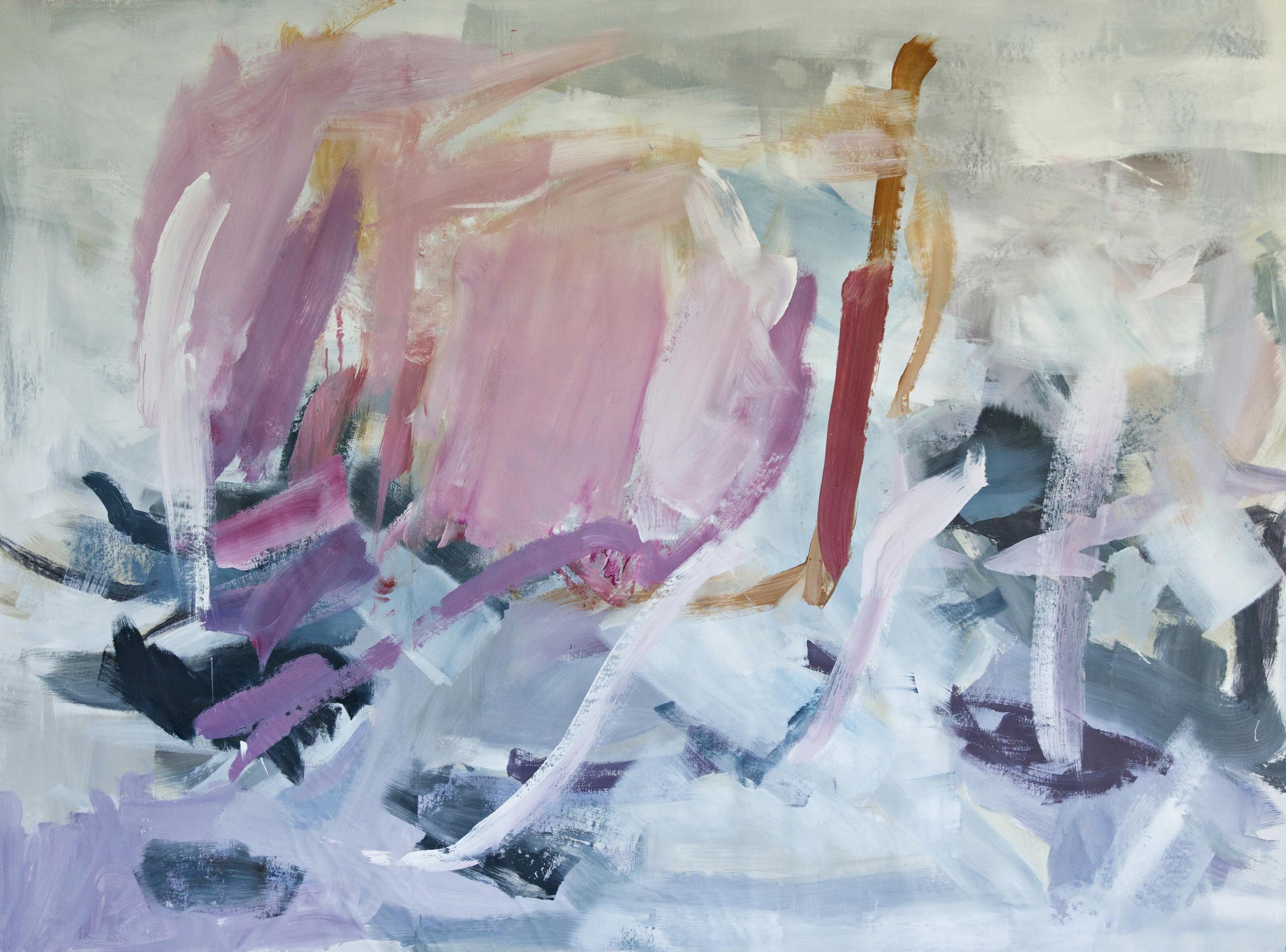 Purple Crush  68 x 91 inches  acrylic on canvas