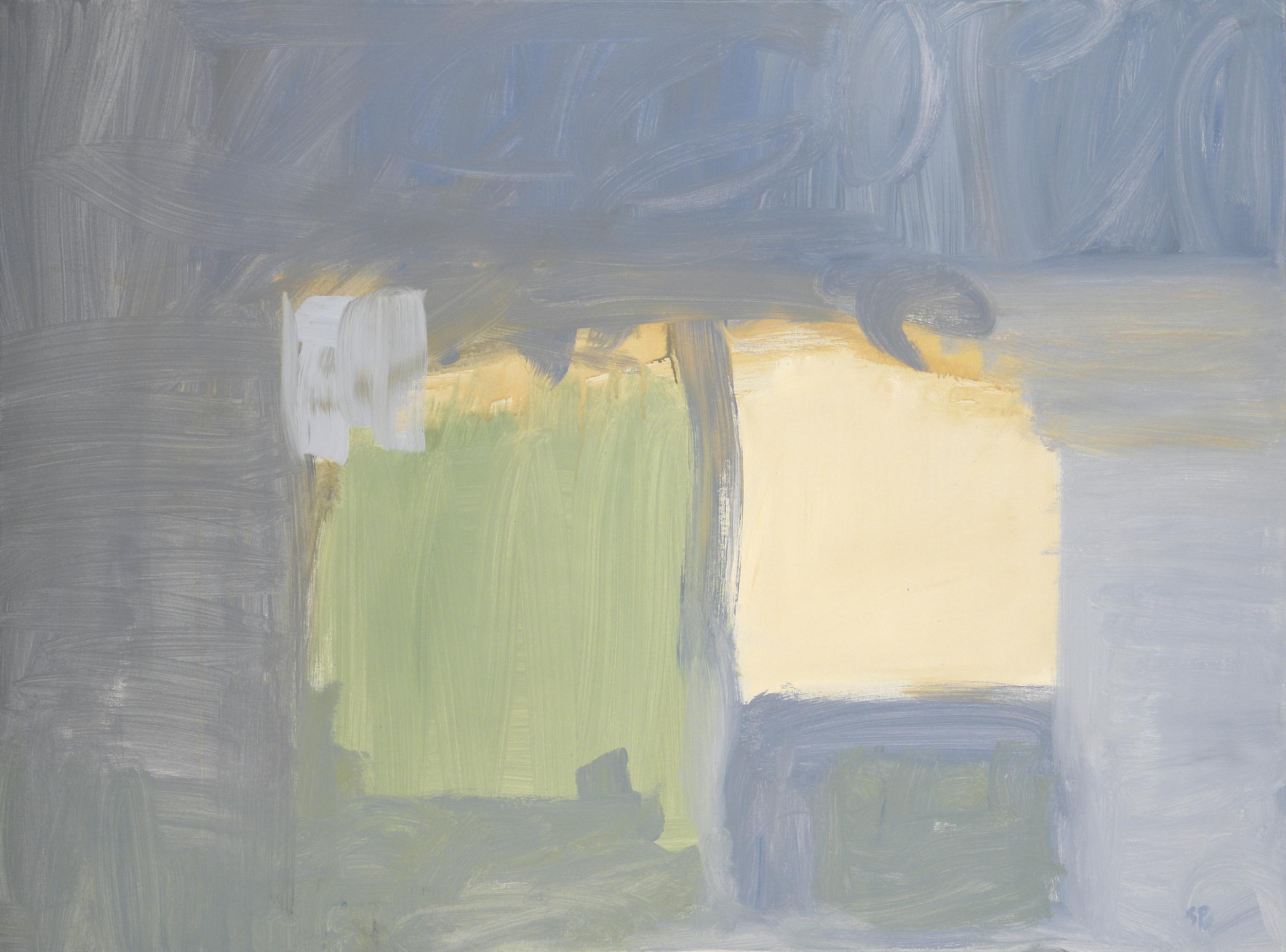 Blue Blocks  36 x 48 inches  Acrylic on canvas
