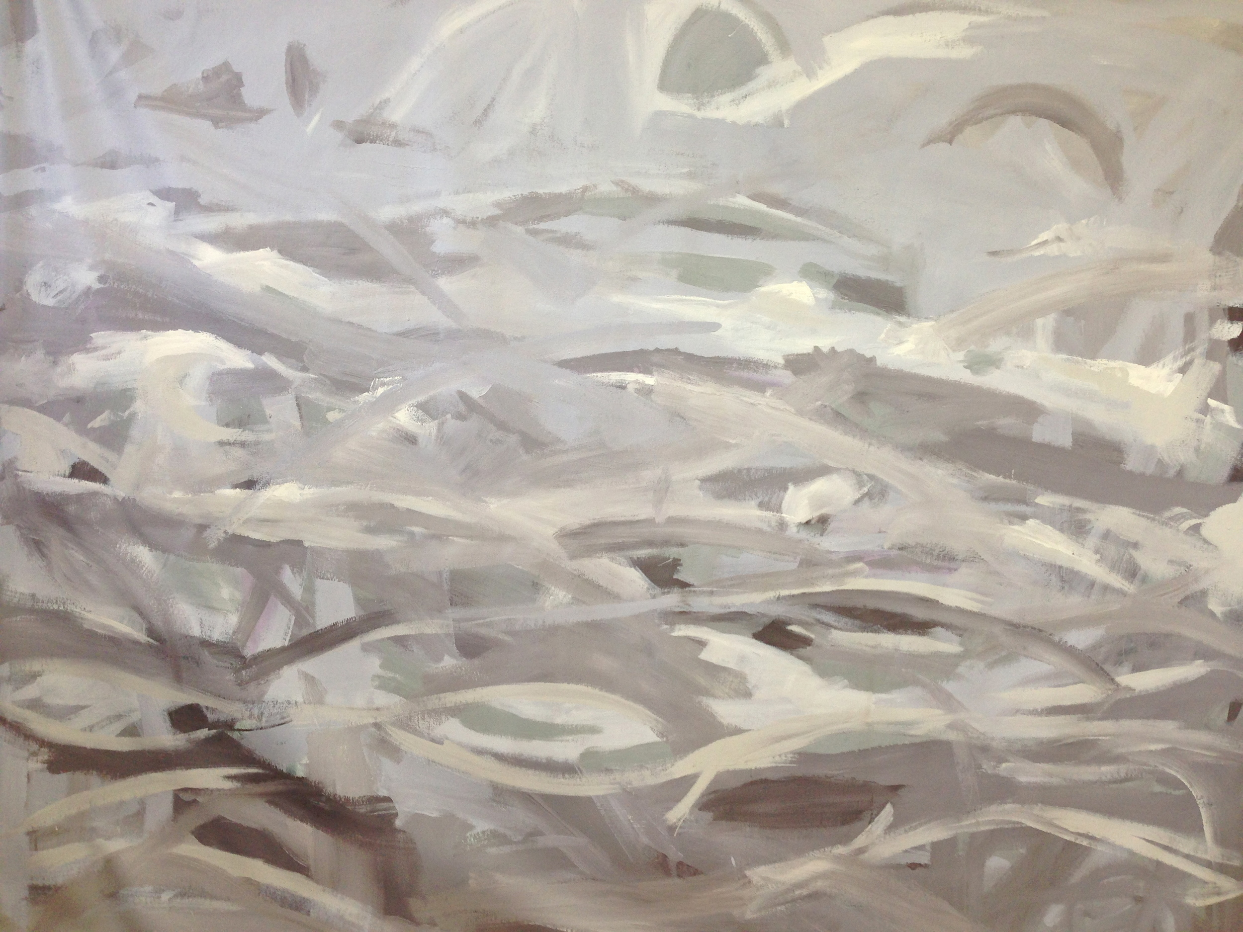 Wind Storm- Sold  72 x 90 inches  acrylic on canvas