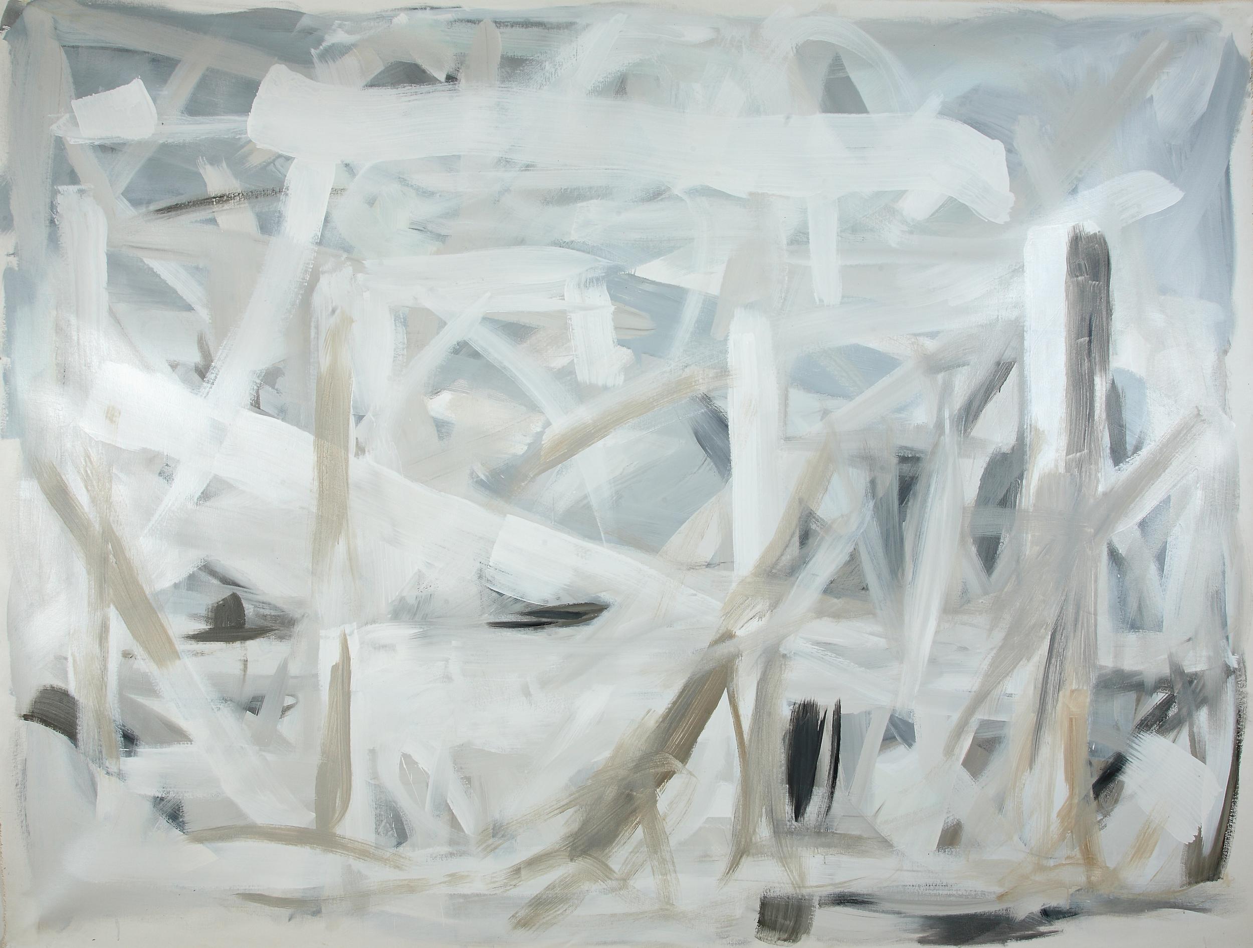 Graywash  80 x 110inches  Acrylic on canvas