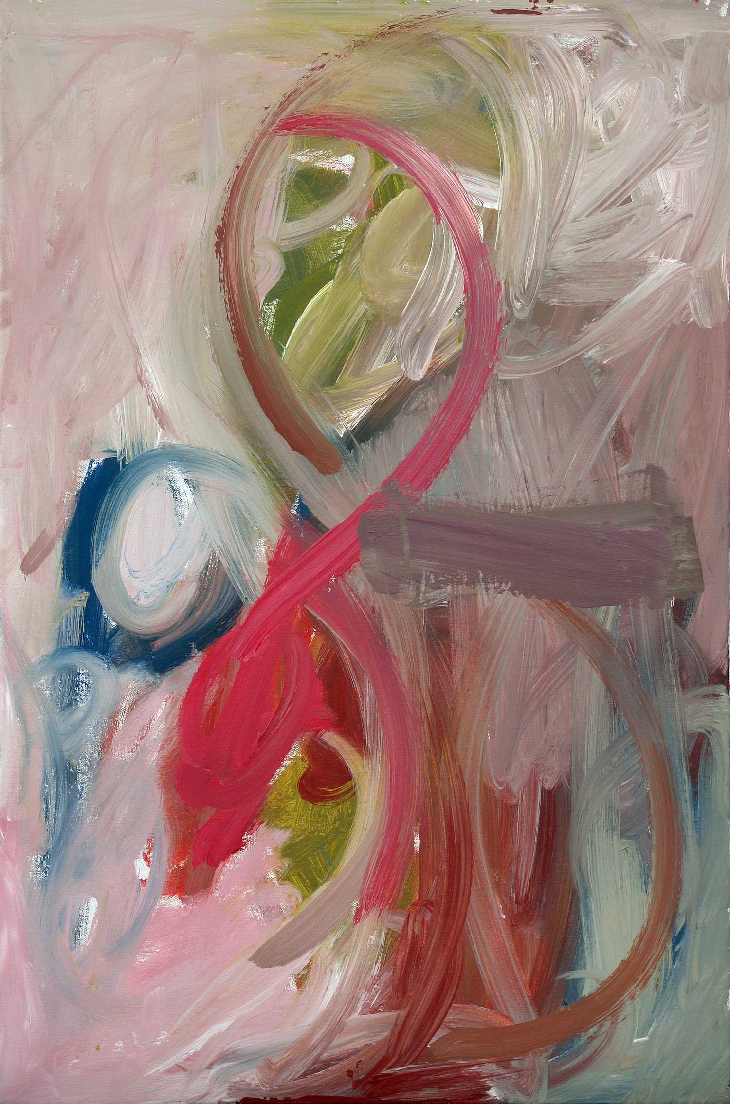 Pink Ribbon   24 x 36 inch, acrylic on canvas