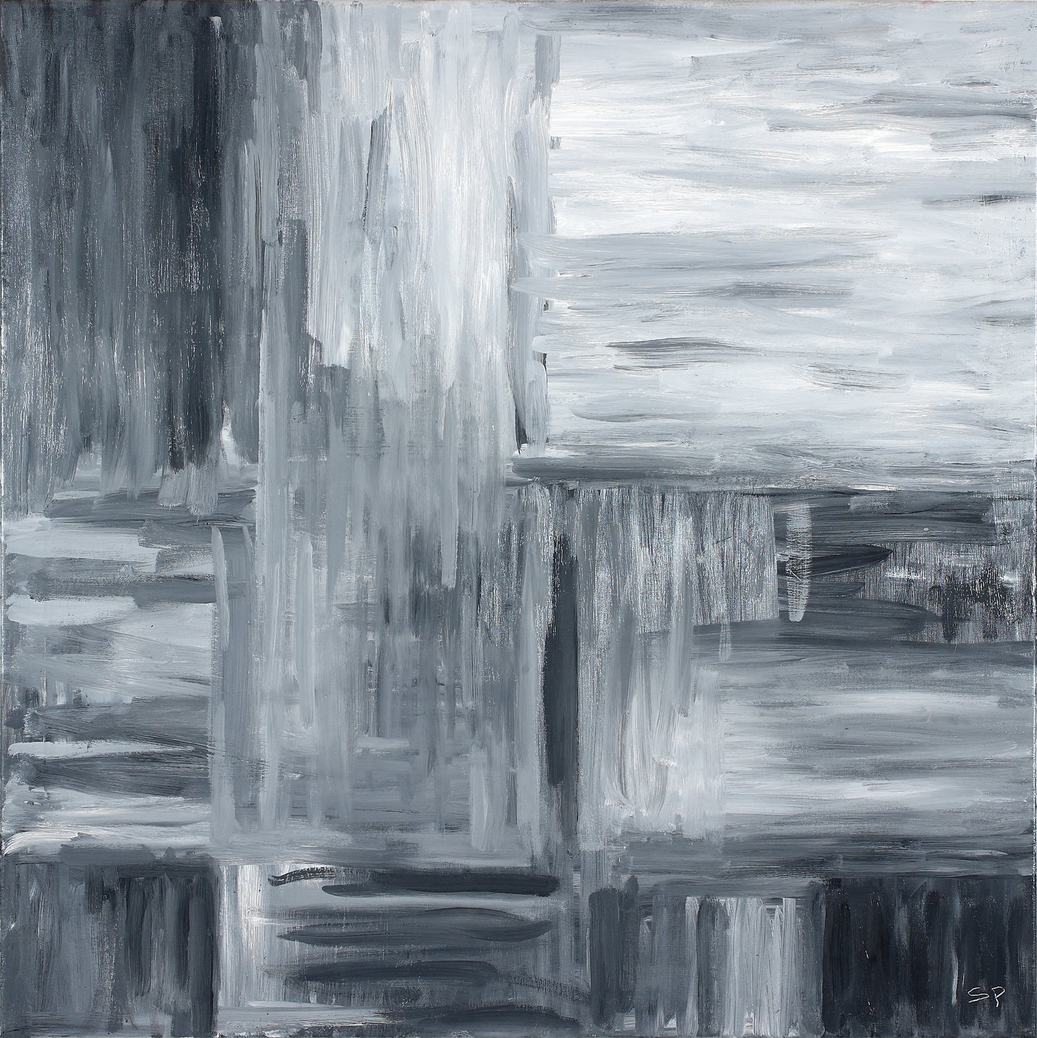 Binomial Cube I  30x 30inches  Oil on canvas