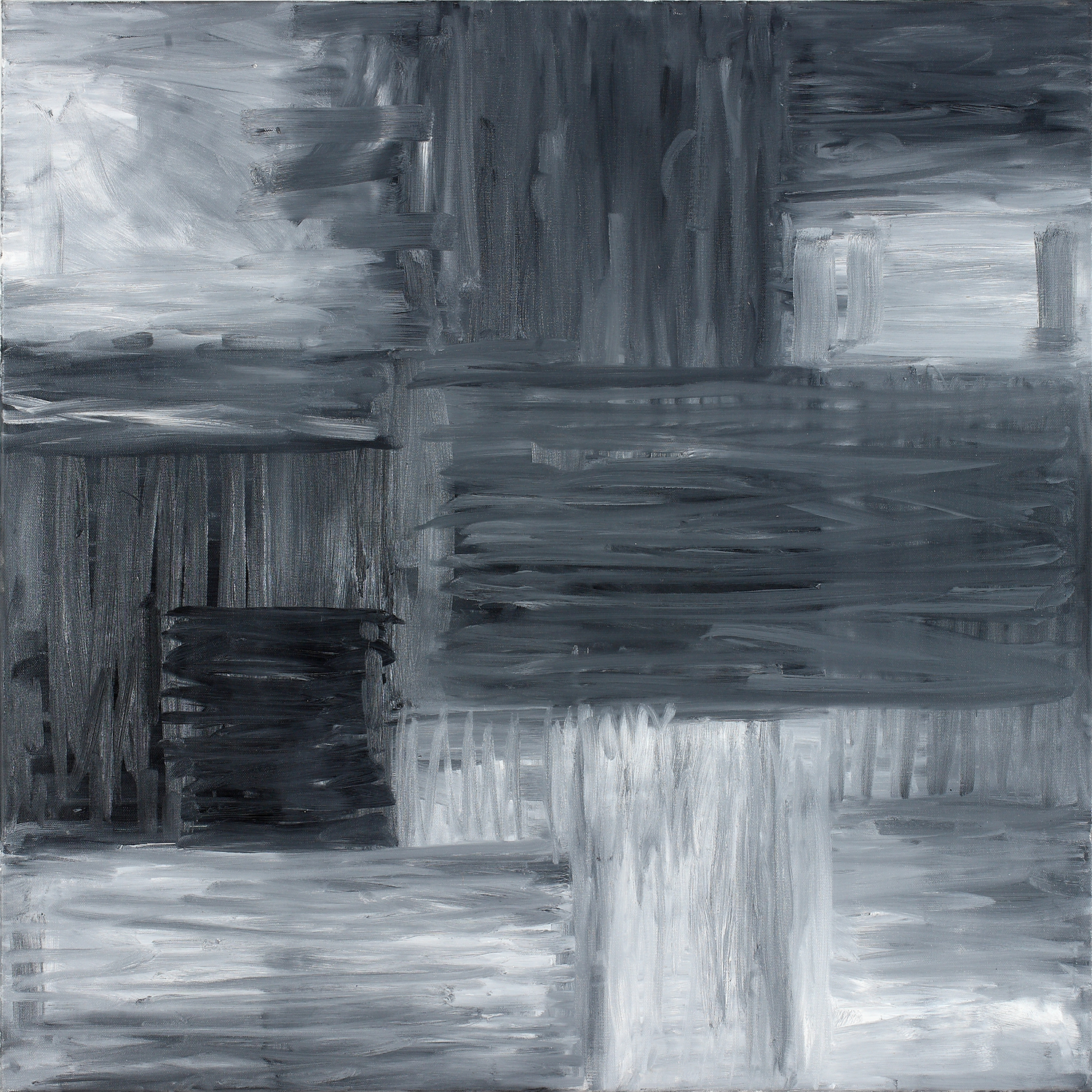 Binomial Cube III  30x 30inches  Oil on canvas
