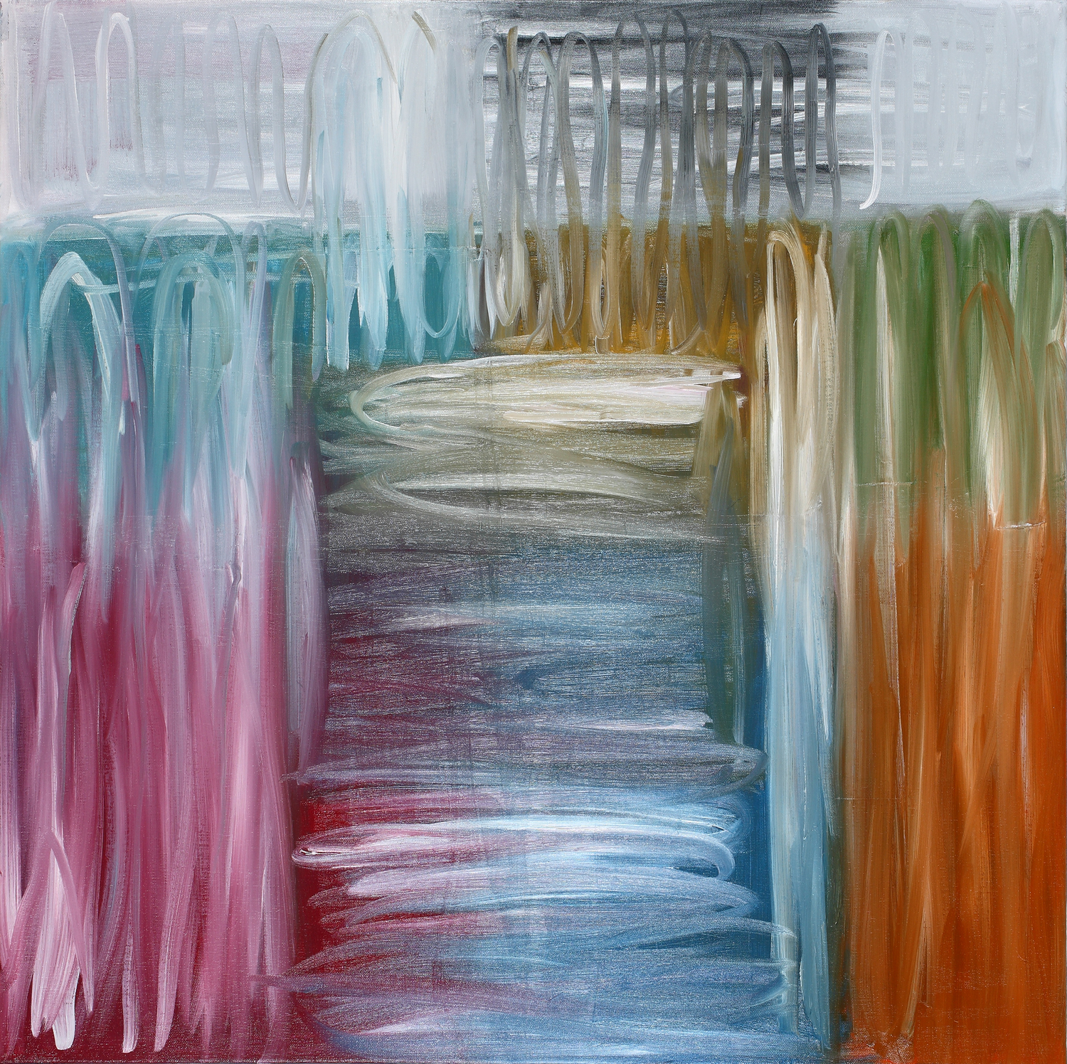 Binomial Cube IV  30x 30inches  Oil on canvas