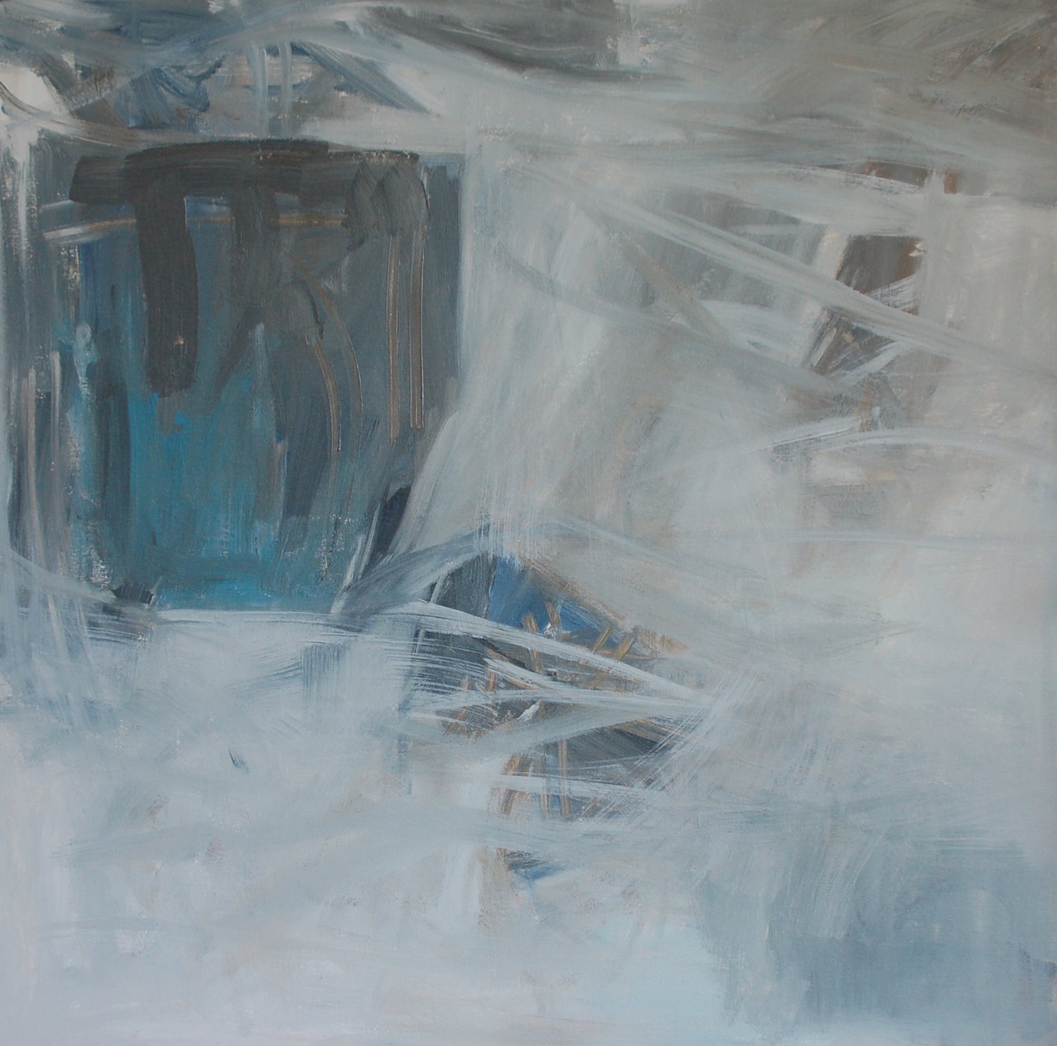 Collapse  36x 36inches  Acrylic on canvas