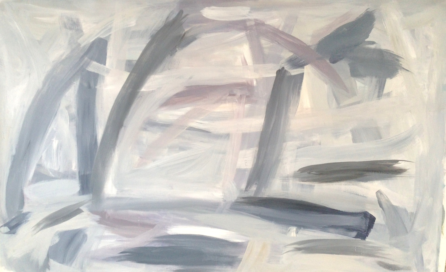 Fins  38 x 63 inches  Oil on canvas