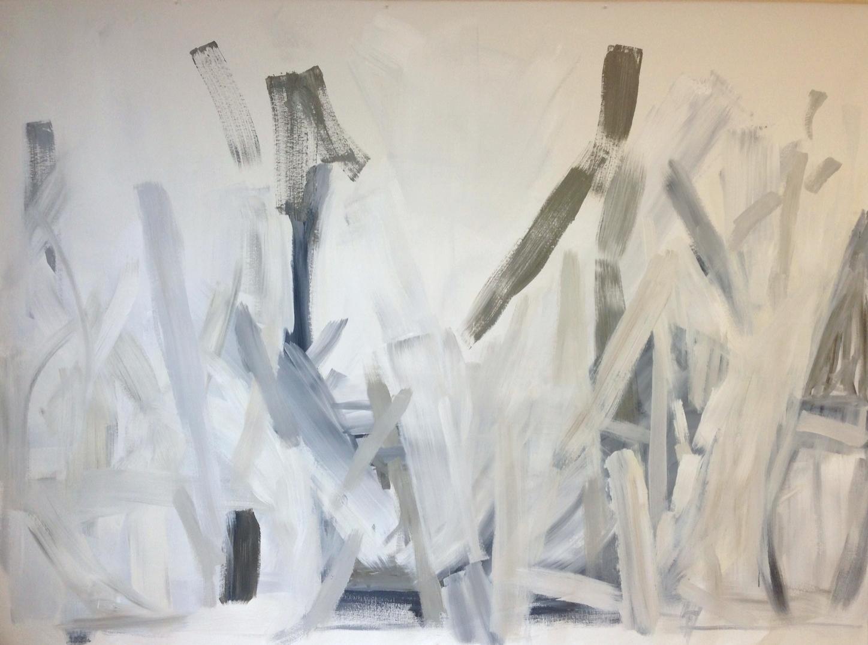 Sticks  80 x 110inches  Acrylic on canvas