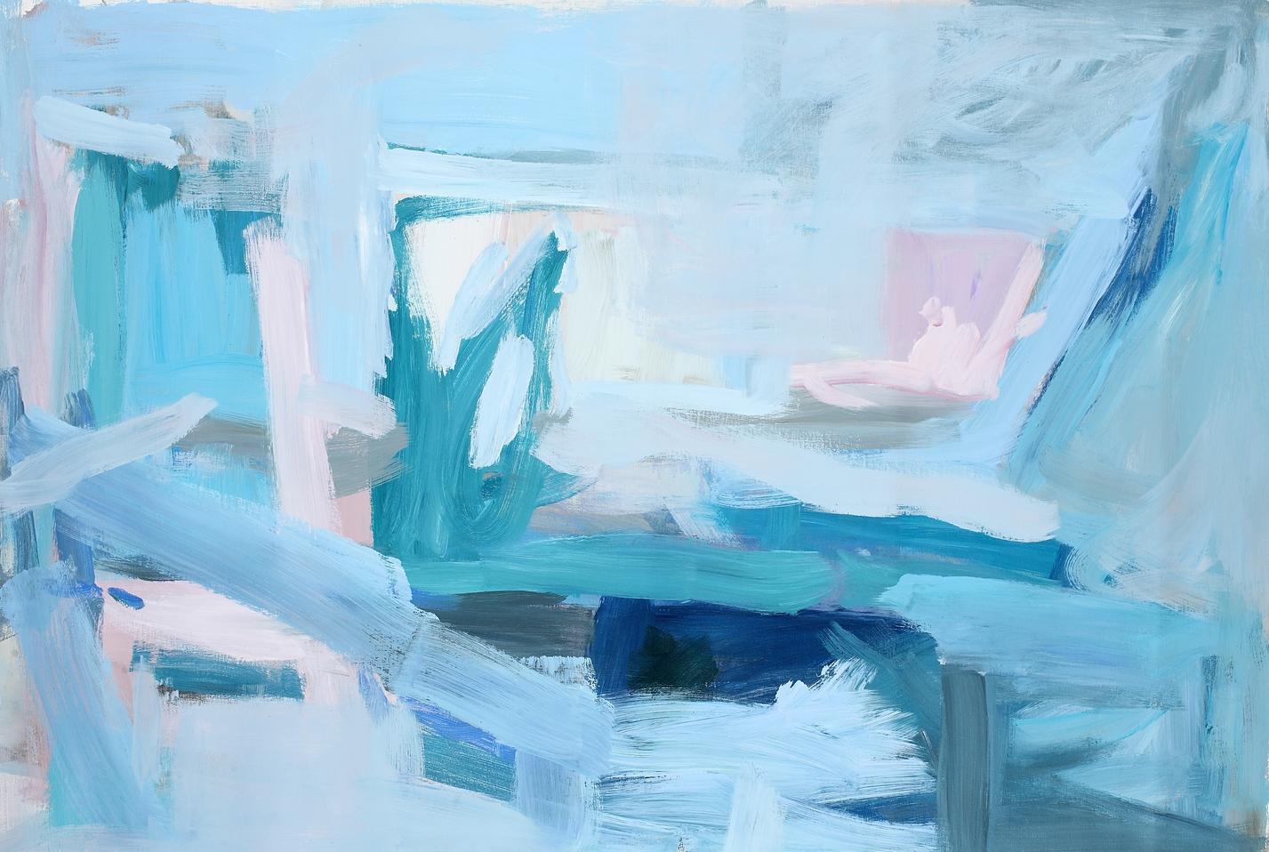 Blue Horizon  Acrylic on Canvas  40 x 50 inches