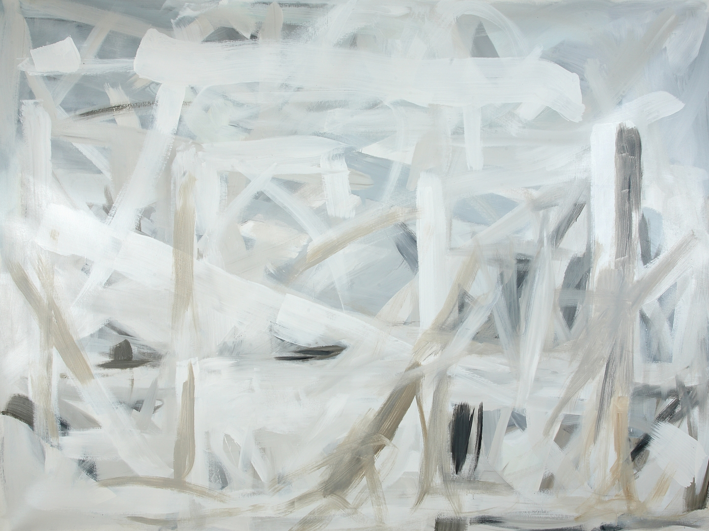 Graywash (SOLD)  80 x 110inches  Acrylic on canvas
