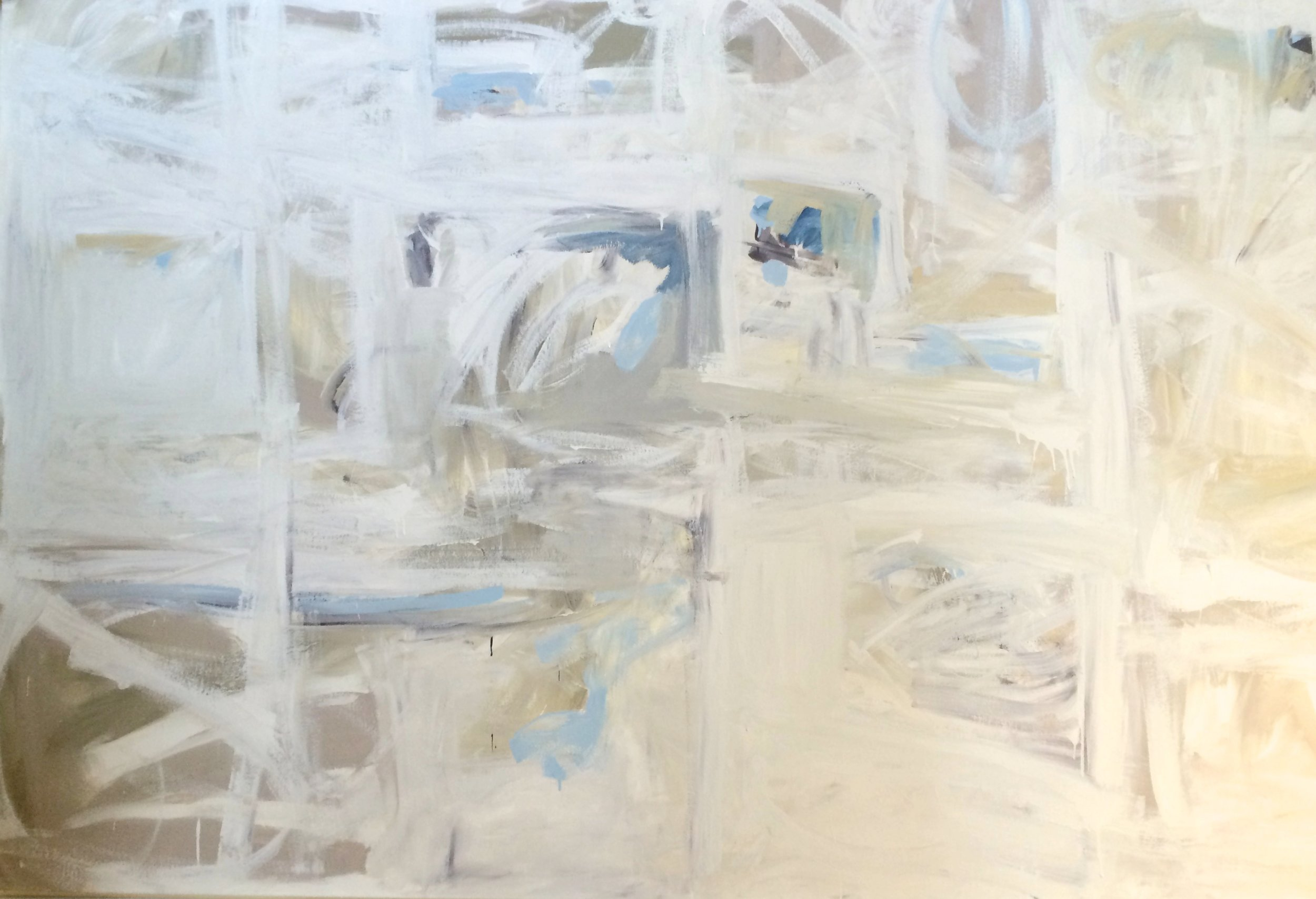 Ivory Tower  80 x 100 inches  Acrylic on canvas