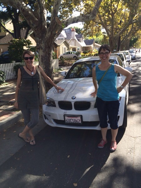 Vanessa with Electronaut Muriel and her amazing BMW Active E Electric Vehicle.