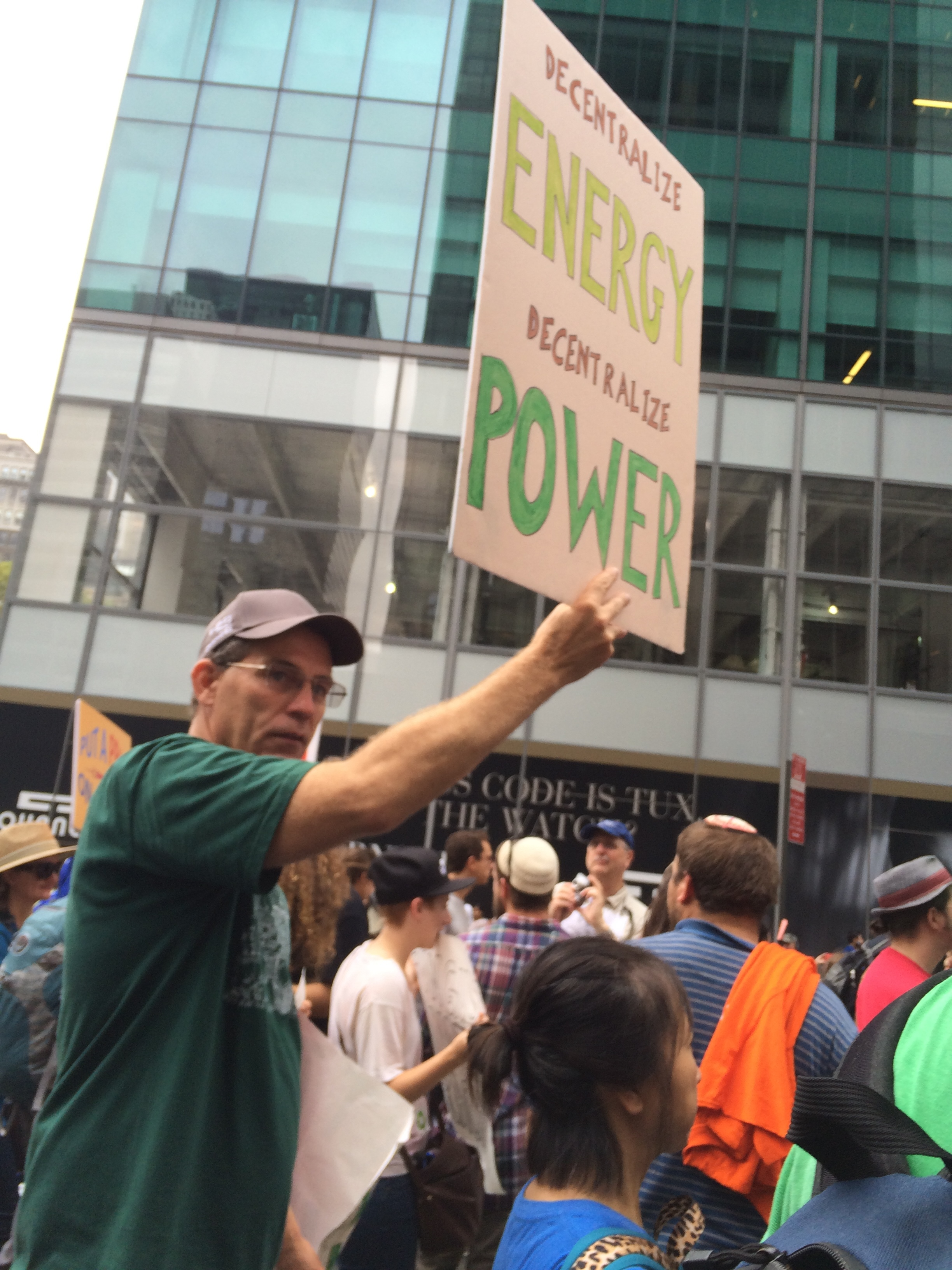 A fellow-traveler in the Peoples Climate March