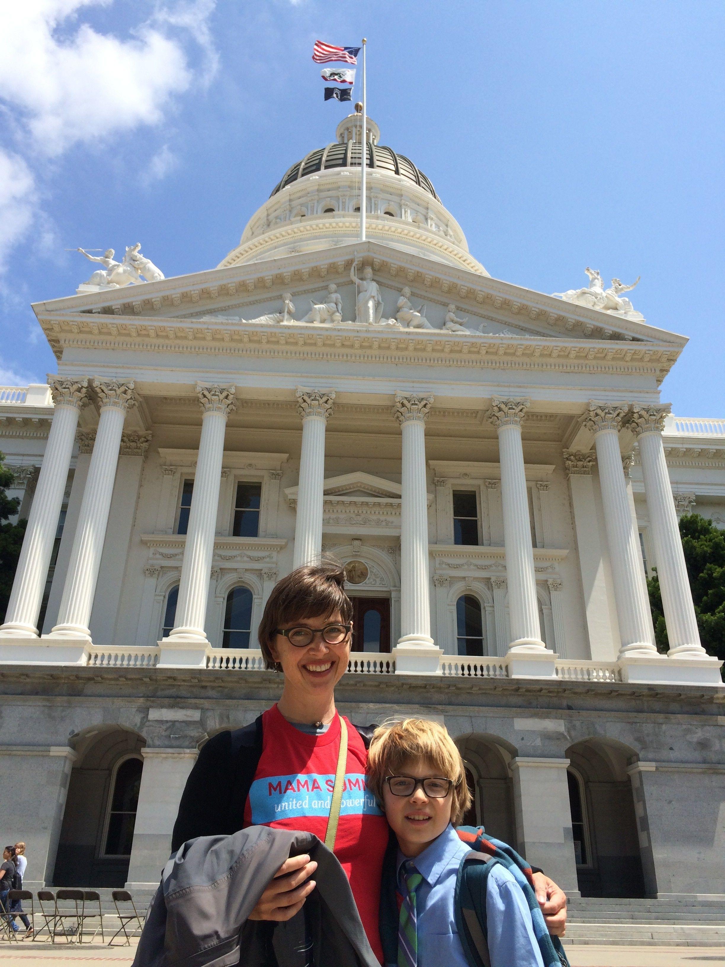 Elliot & Vanessa after a longday of lobbying.