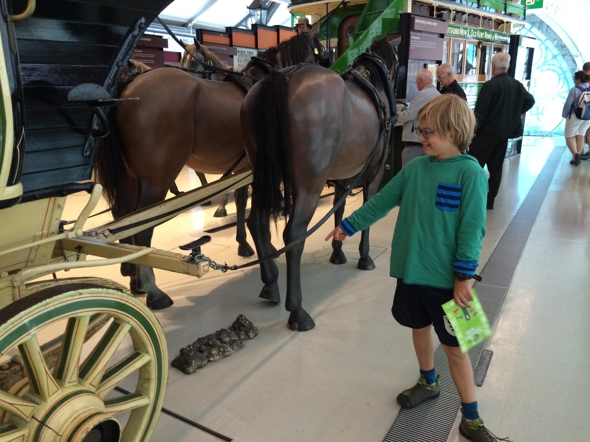 The original omnibus - complete with horse poop!