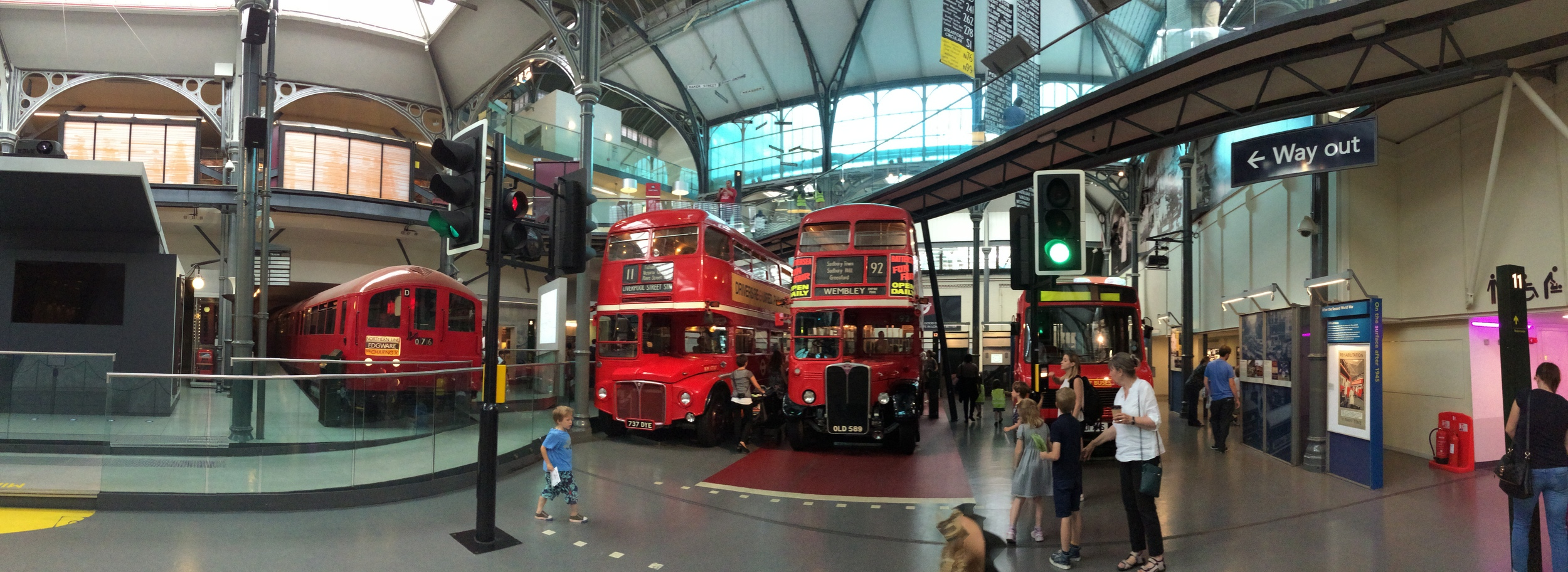 The London Transport Museum - a mecca for transit enthusiasts.