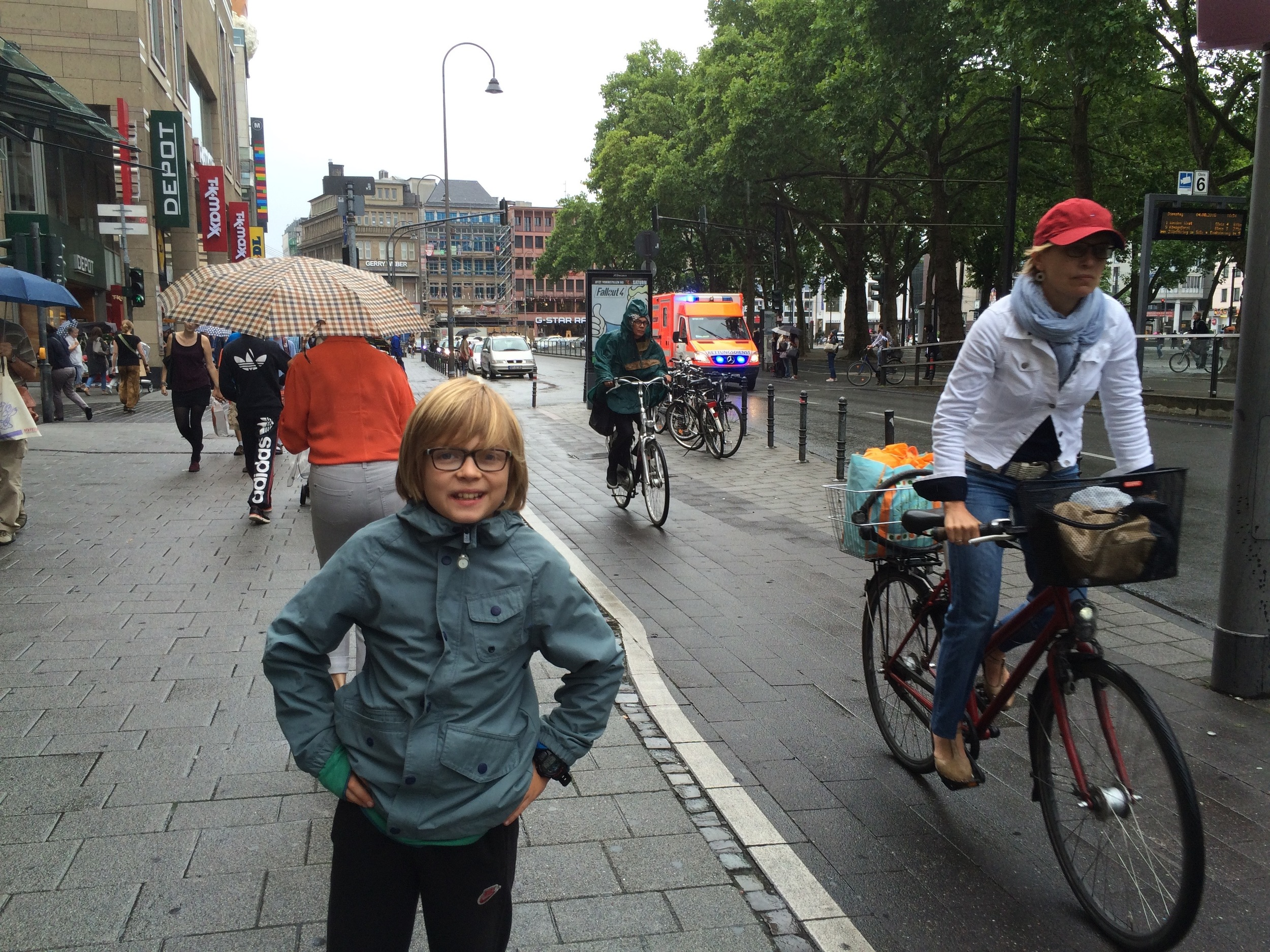 Elliot loved Cologne - and its protected bike lanes