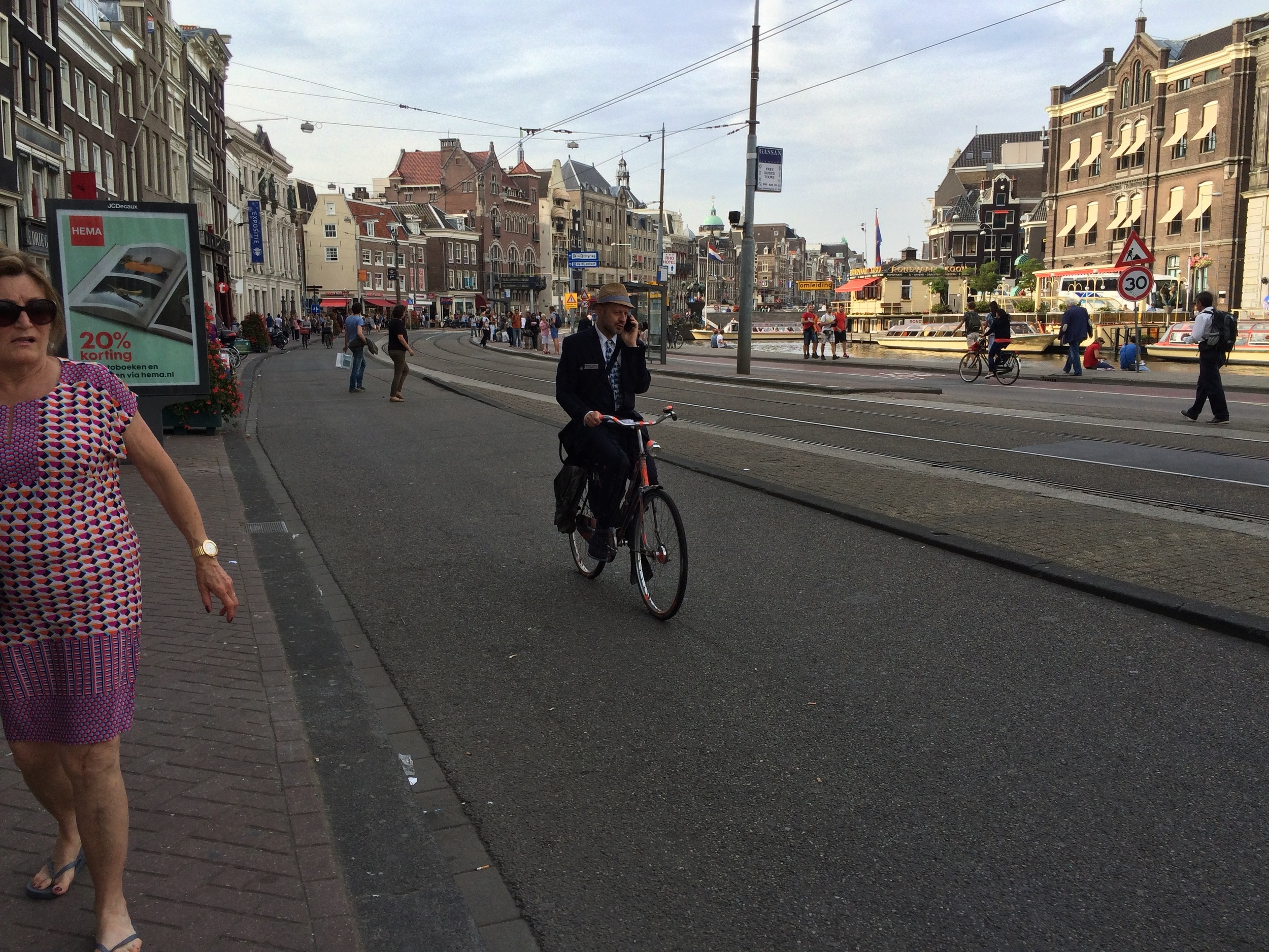 Cycle commuter, Amsterdam