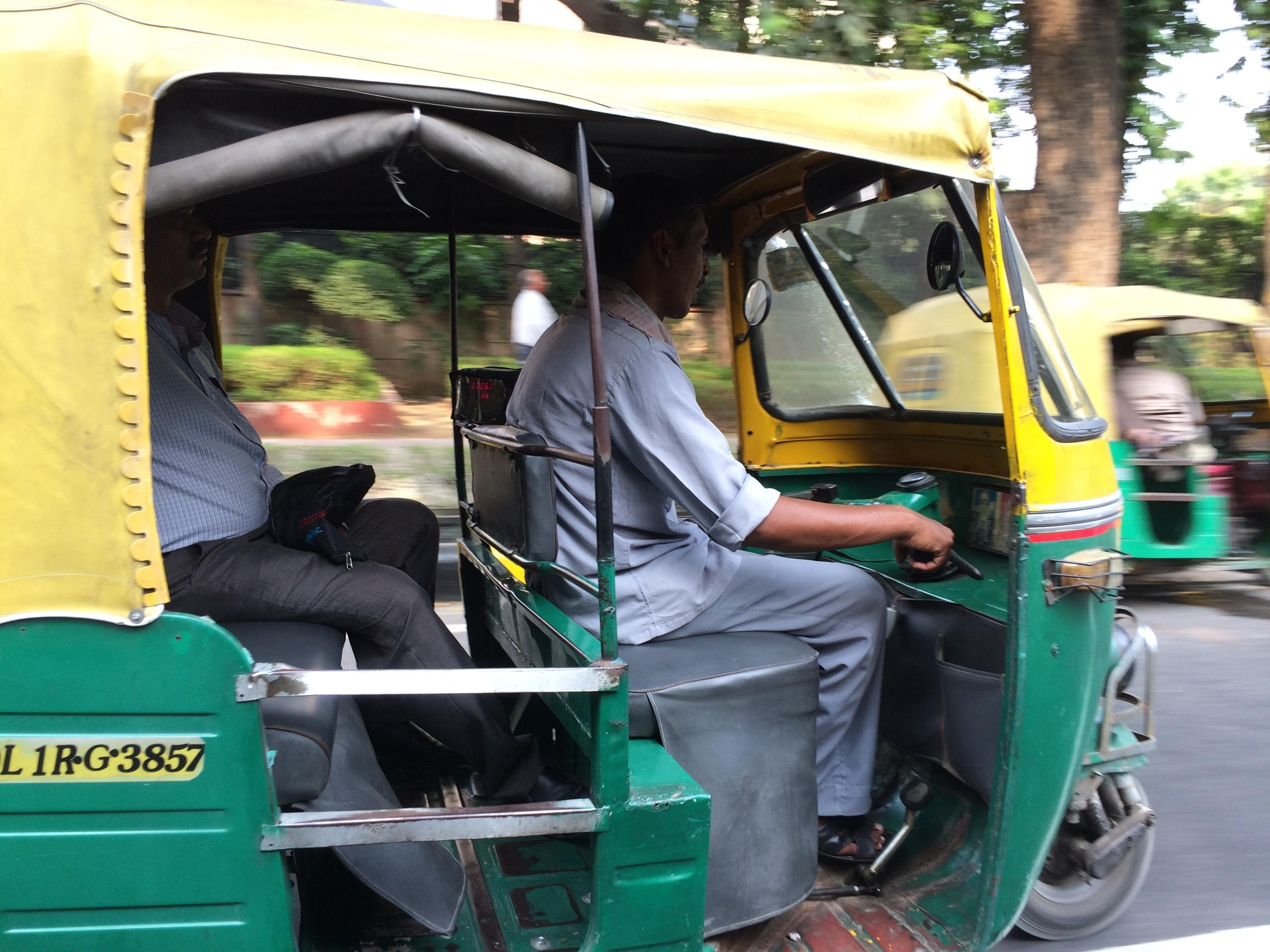 Delhi's auto-rickshaws are everywhere.