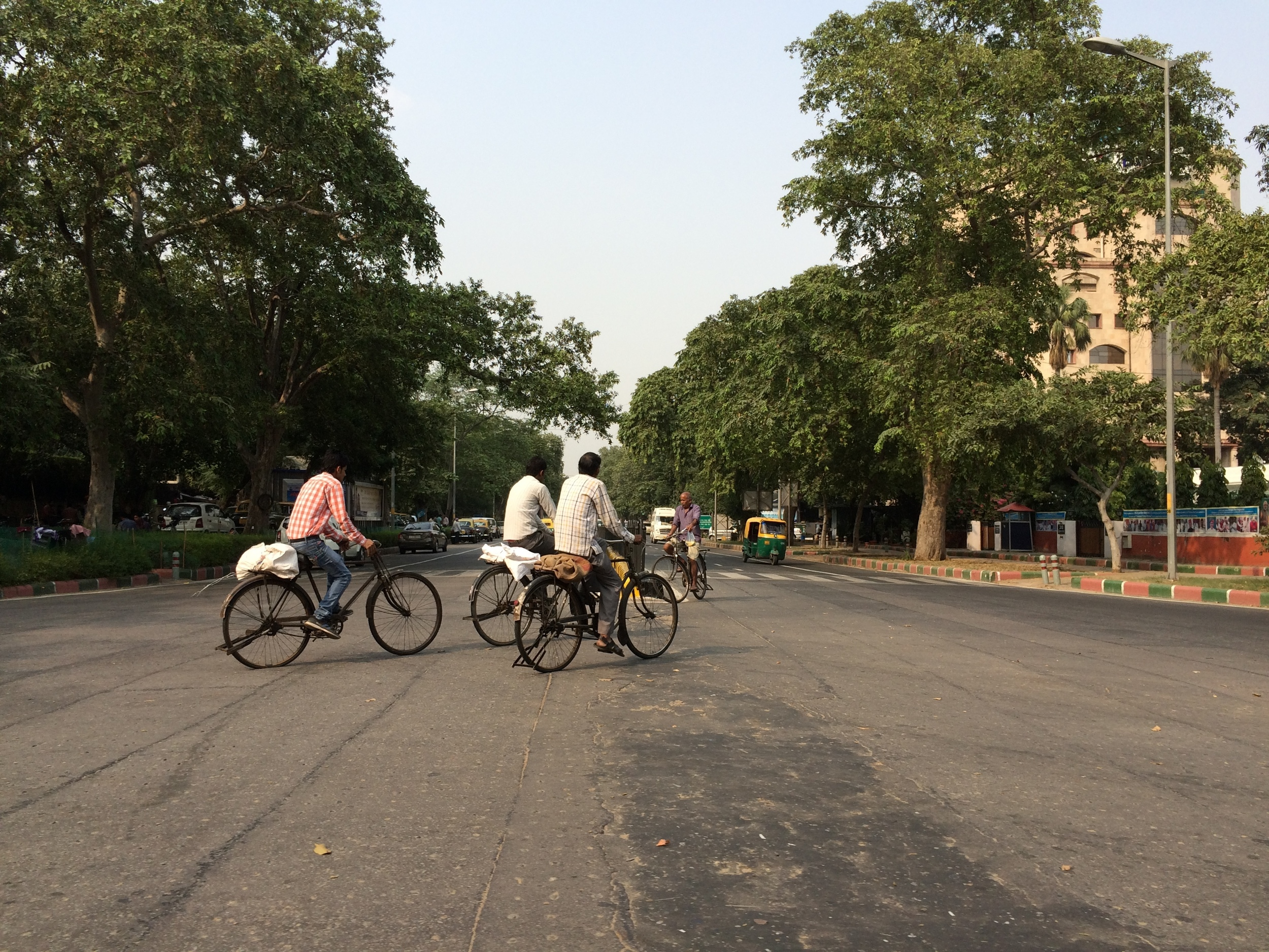 Bicycles on the streets of New Delhi