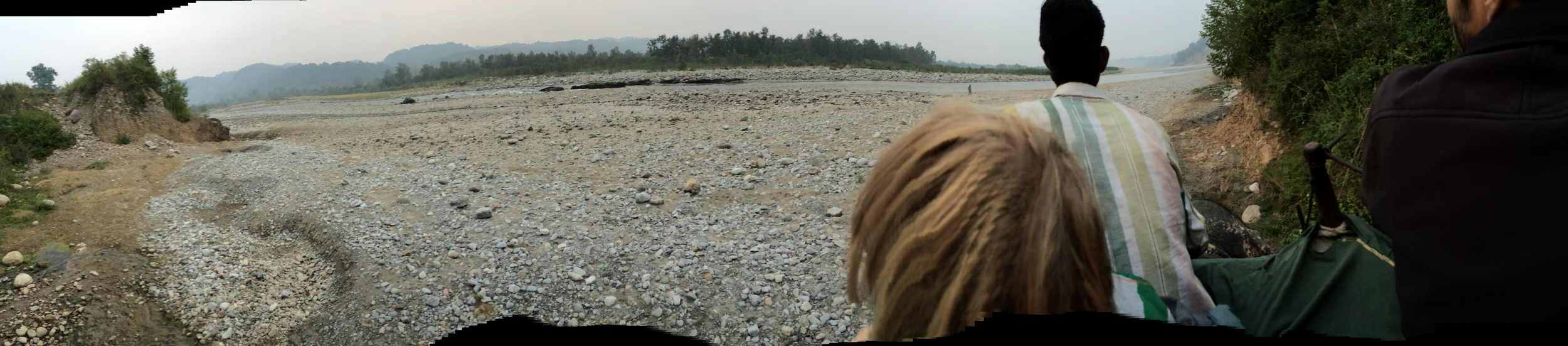 View of the riverbed near Jim Corbett National Park