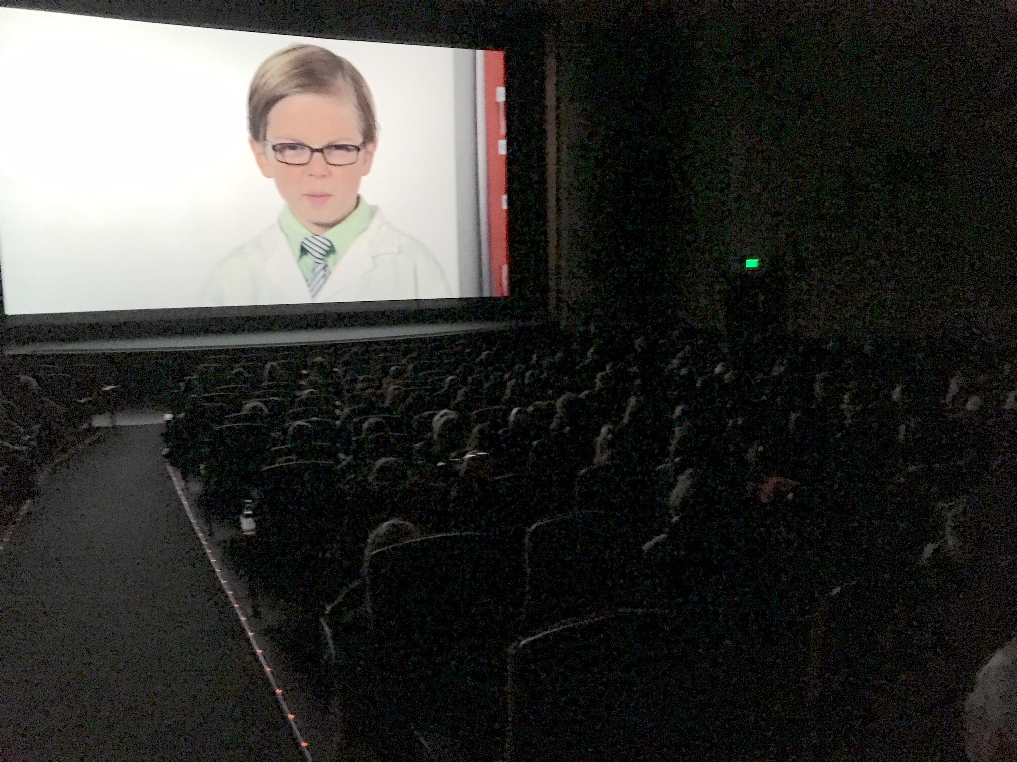 Elliot on the giant screen...