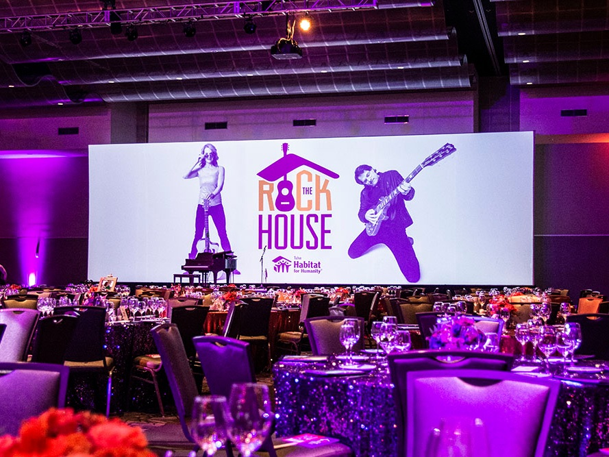 Event Services - We excel at maximizing bang for your buck and creating memorable events that amaze audiences. Your affair will stand out from all the rest with our wide selection of screens and projection surfaces. We'll collaborate with you to help inspire, educate and entertain your crowd.