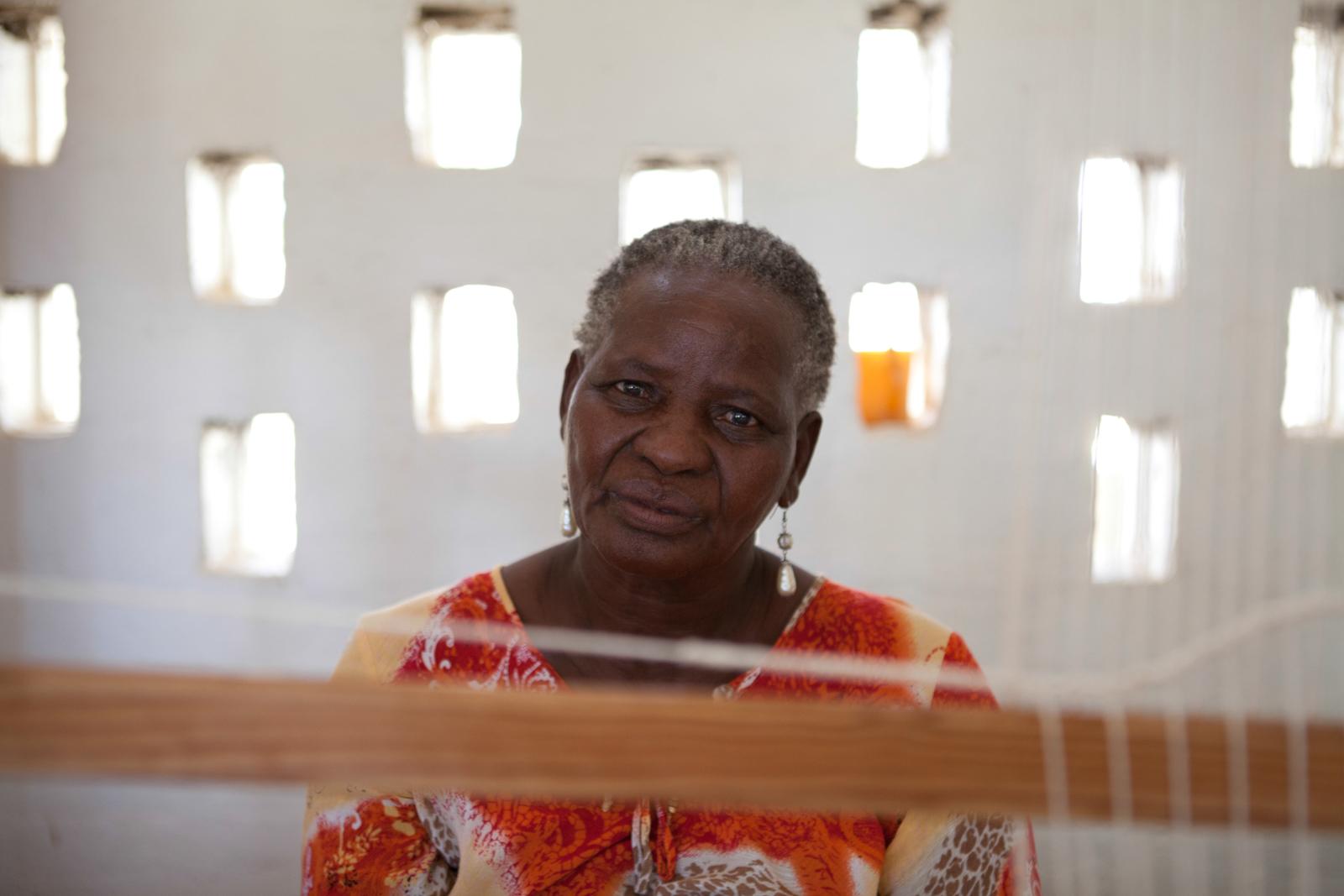 A weaver in Botswana