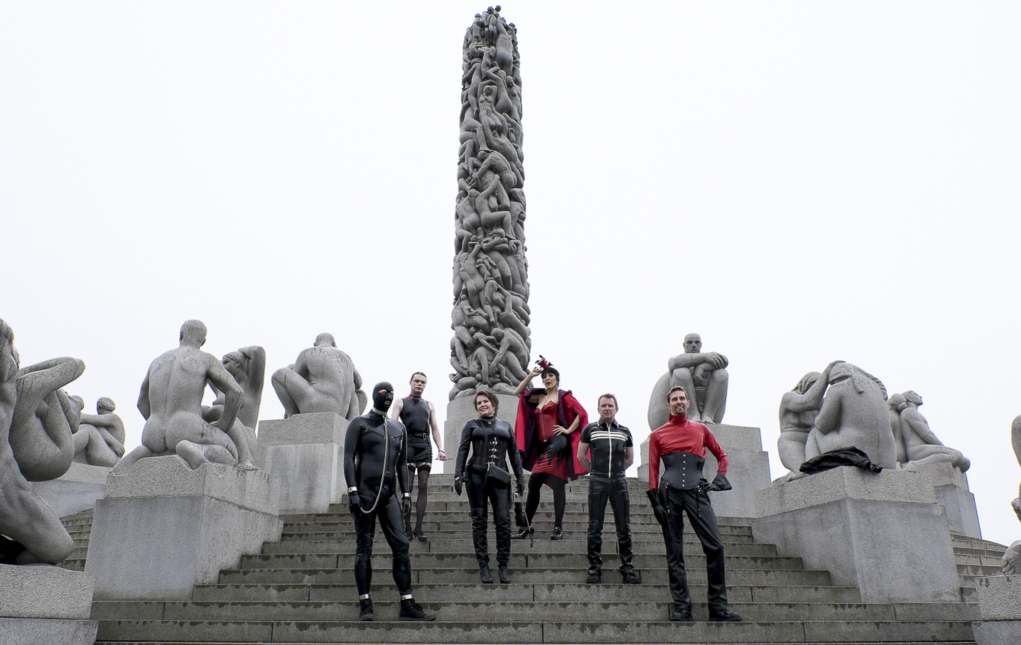 A fetish group in the Vigeland Park in Oslo