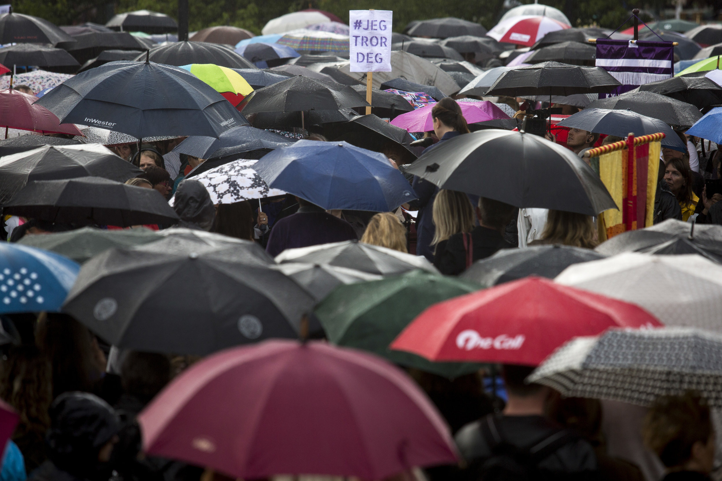 #JegTrorDeg become hashtag after three men were acquitted of gang rape by Andrea Voldum in the so-called Hemsedal case. After the verdict several thousand gathered in front of Parliament to show their support for Andrea.