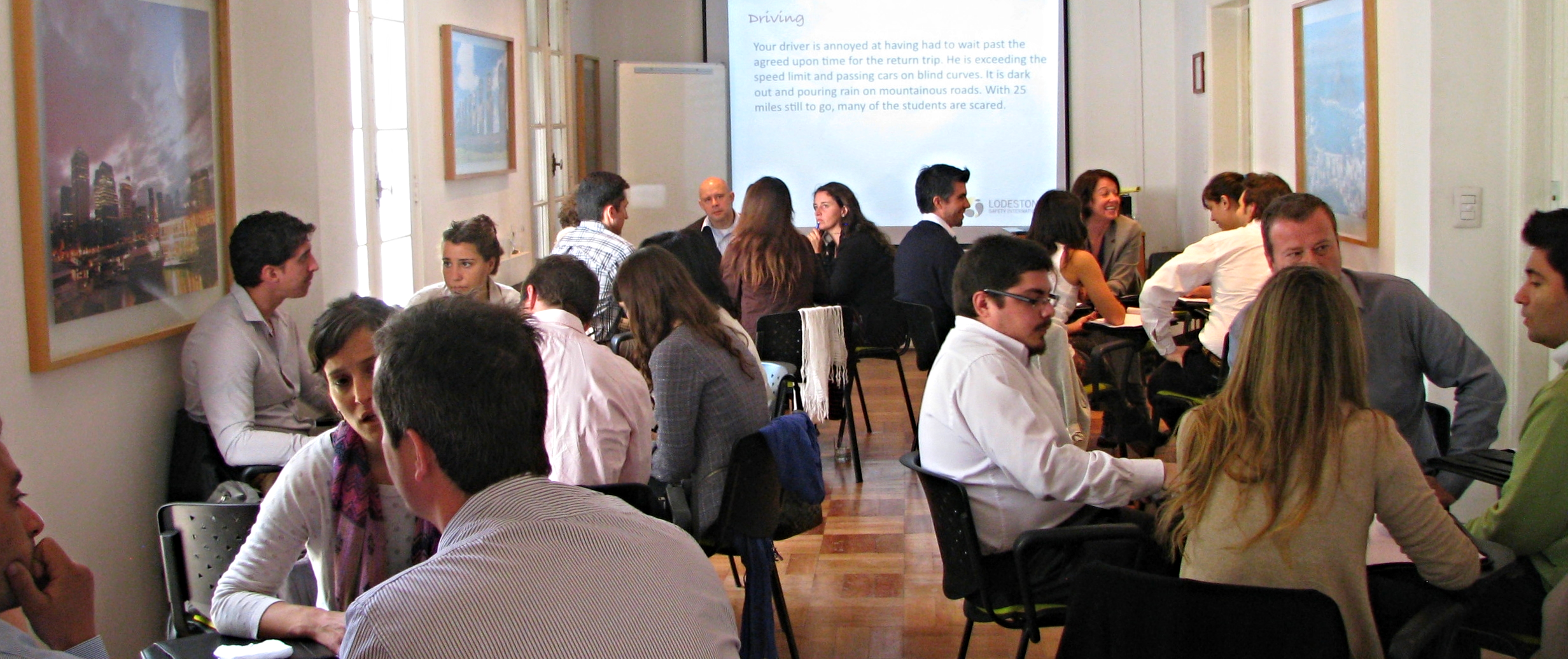 participants at a Lodestone training in santiago, chile.
