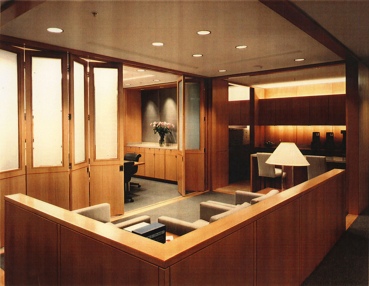 McKINSEY & CO – Los Angeles, California  work completed for former employer    Architect: Brayton & Hughes Design Studio  Project Designer: Timothy Gemmill  Project Type: Private Offices